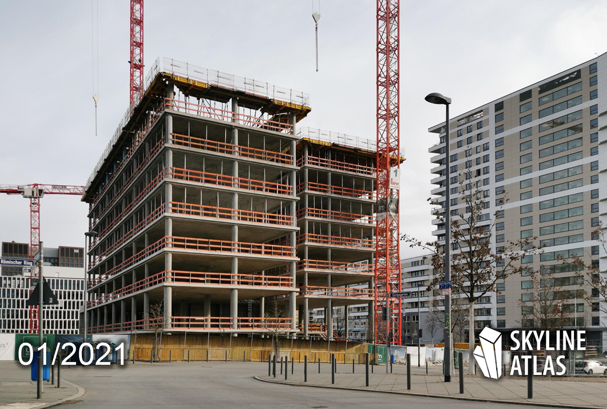 FAZ Tower - Frankfurter Allgemeine Zeitung Neubau - Januar 2021