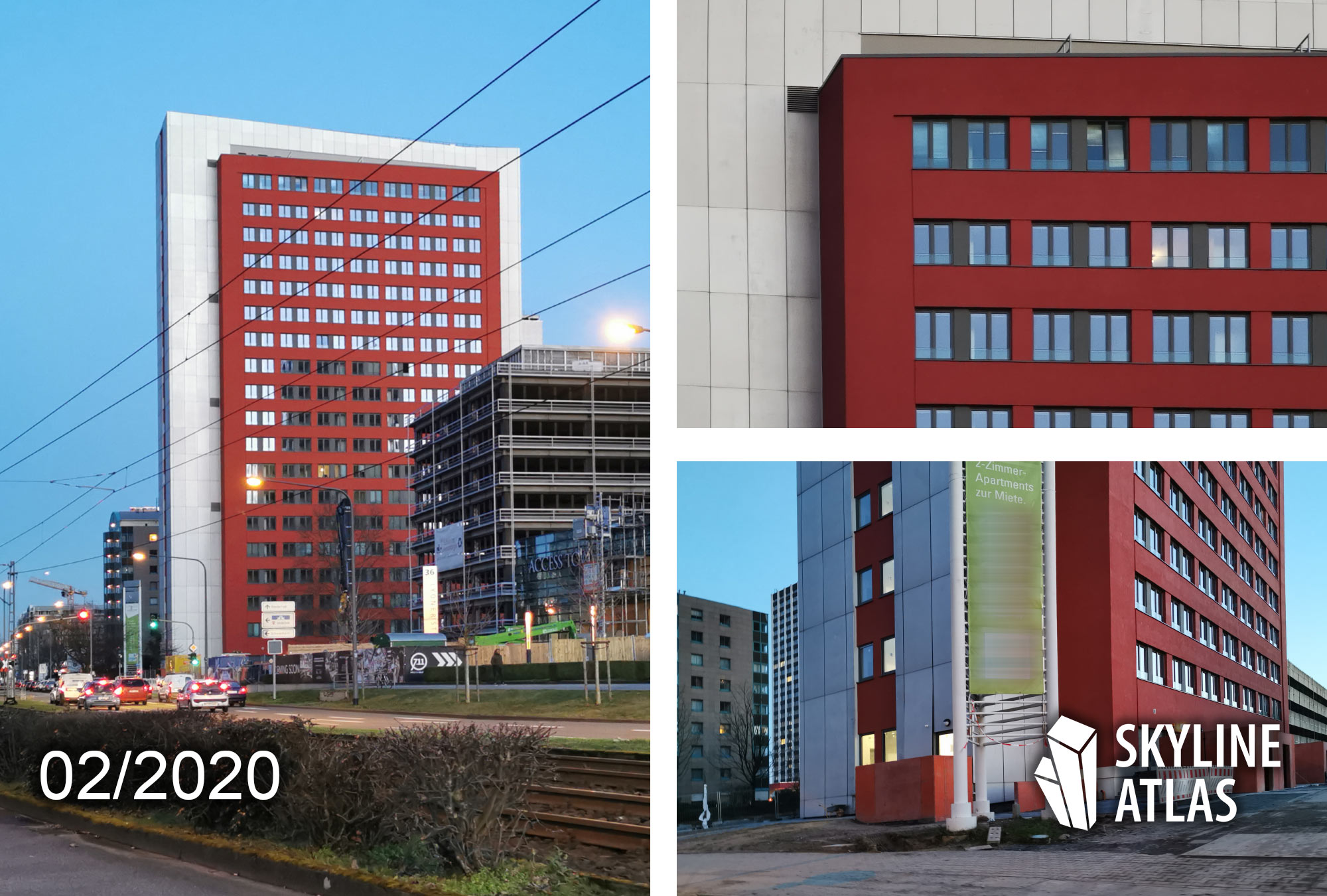 RUBY Tower in Frankfurt Niederrad - Februar 2020 - Baufortschritt GWH Turm im Lyoner Viertel