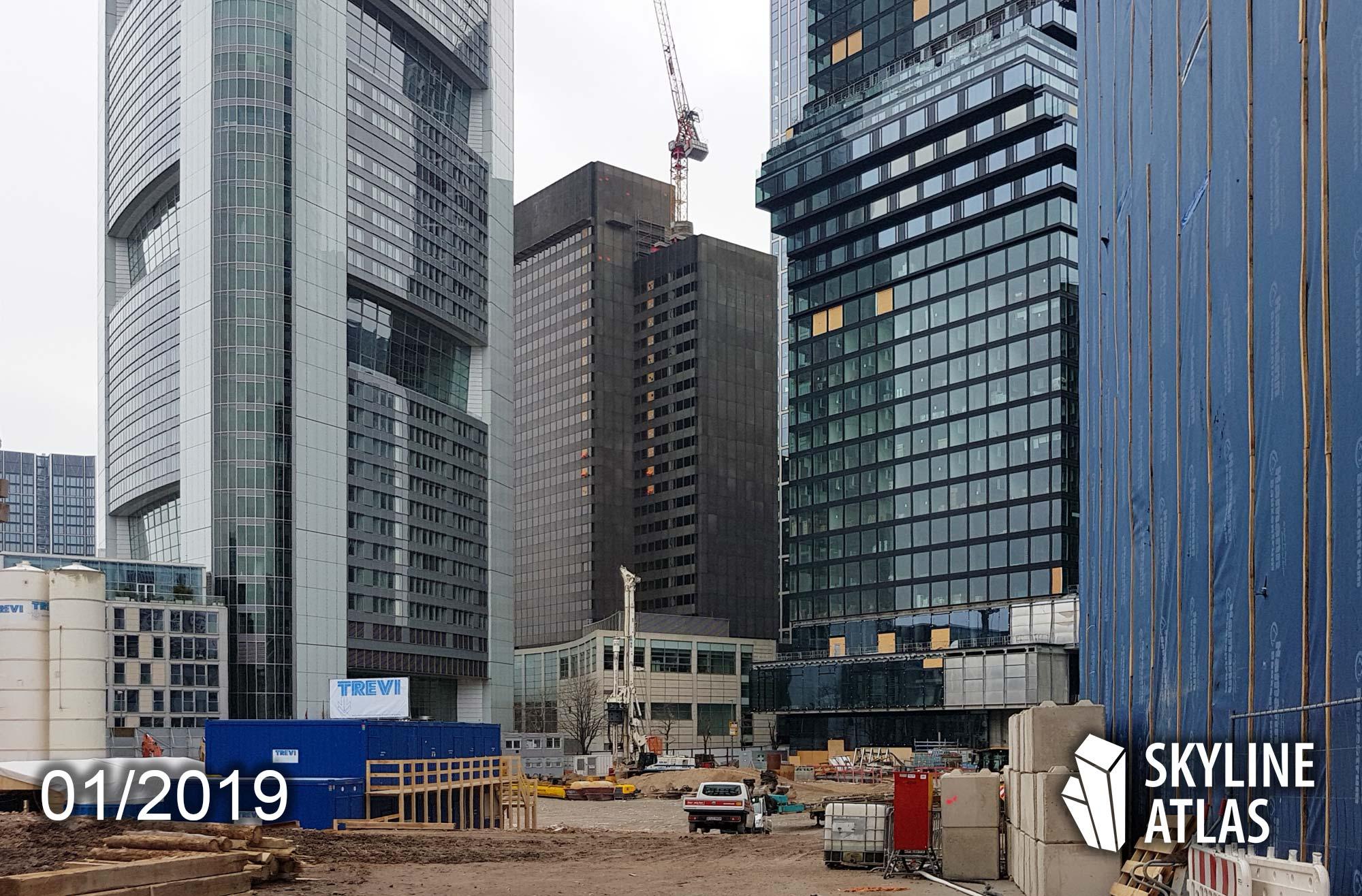 Global Tower - Baustelle - Neue Mainzer Straße, Frankfurt am Main