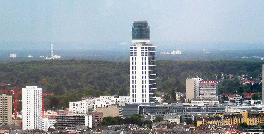 Henninger Turm in Frankfurt-Sachsenhausen