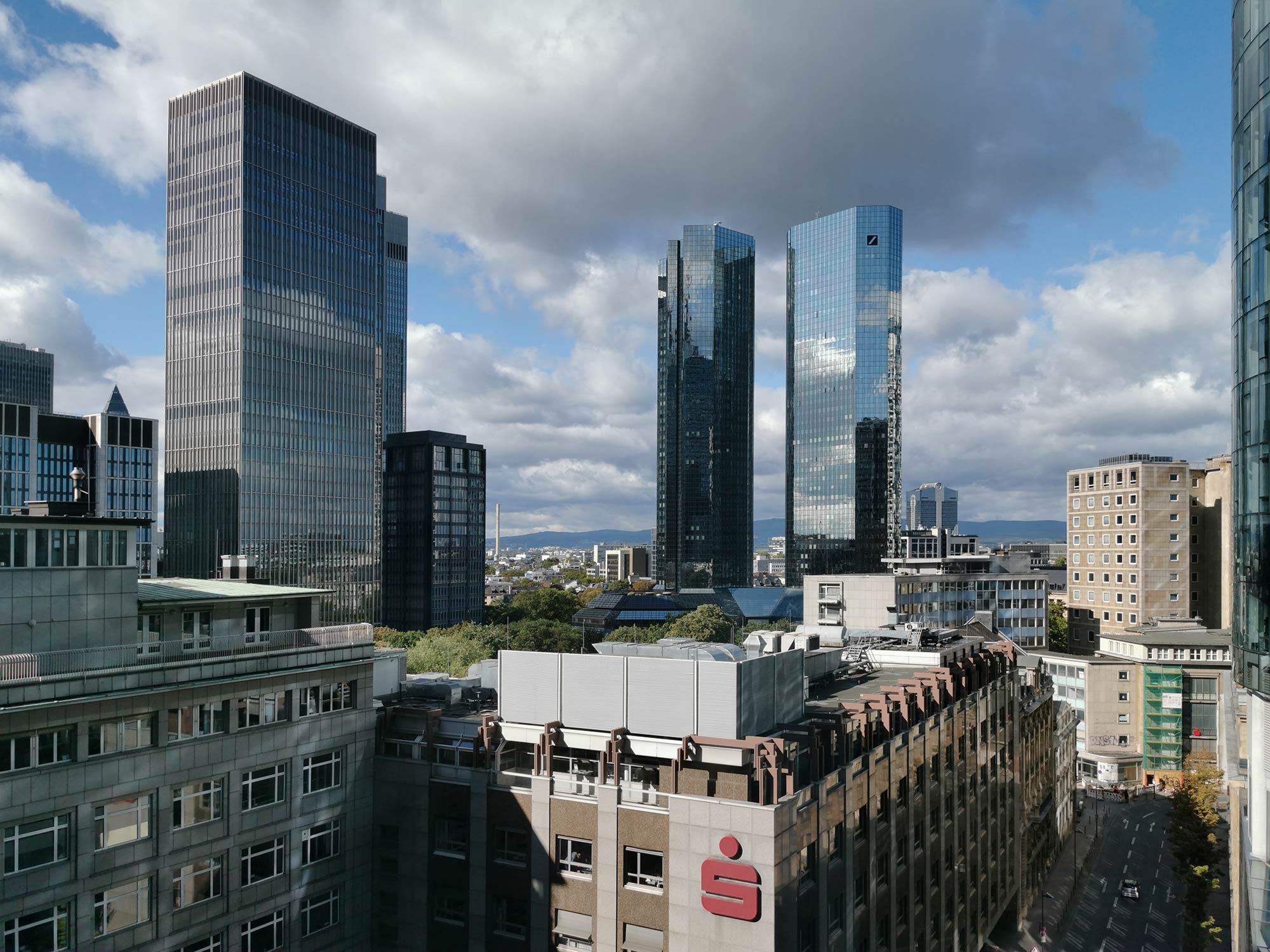 Deutsche Bank Zentrale Frankfurt am Main - Zwillingstürme Deutsche Bank AG - DB Hauptsitz