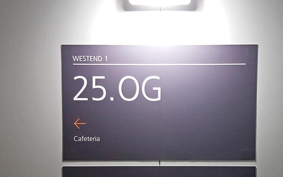 Westend 1 - Schild