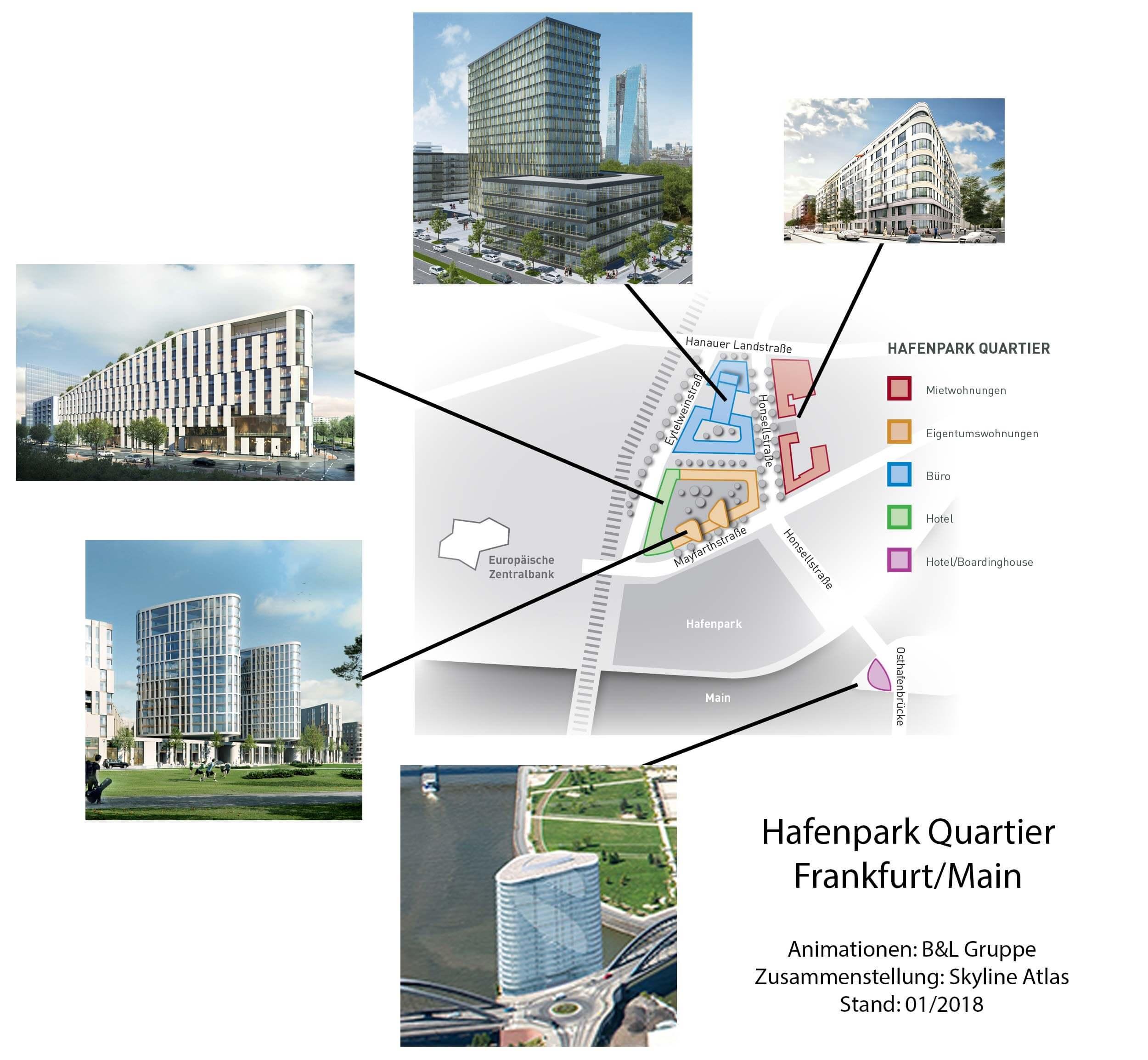 Hafenpark-Quartier in Frankfurt am Main