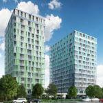 Blue Towers, Wohnhochhaus, Frankfurt-Niederrad, Wohnturm, geplant