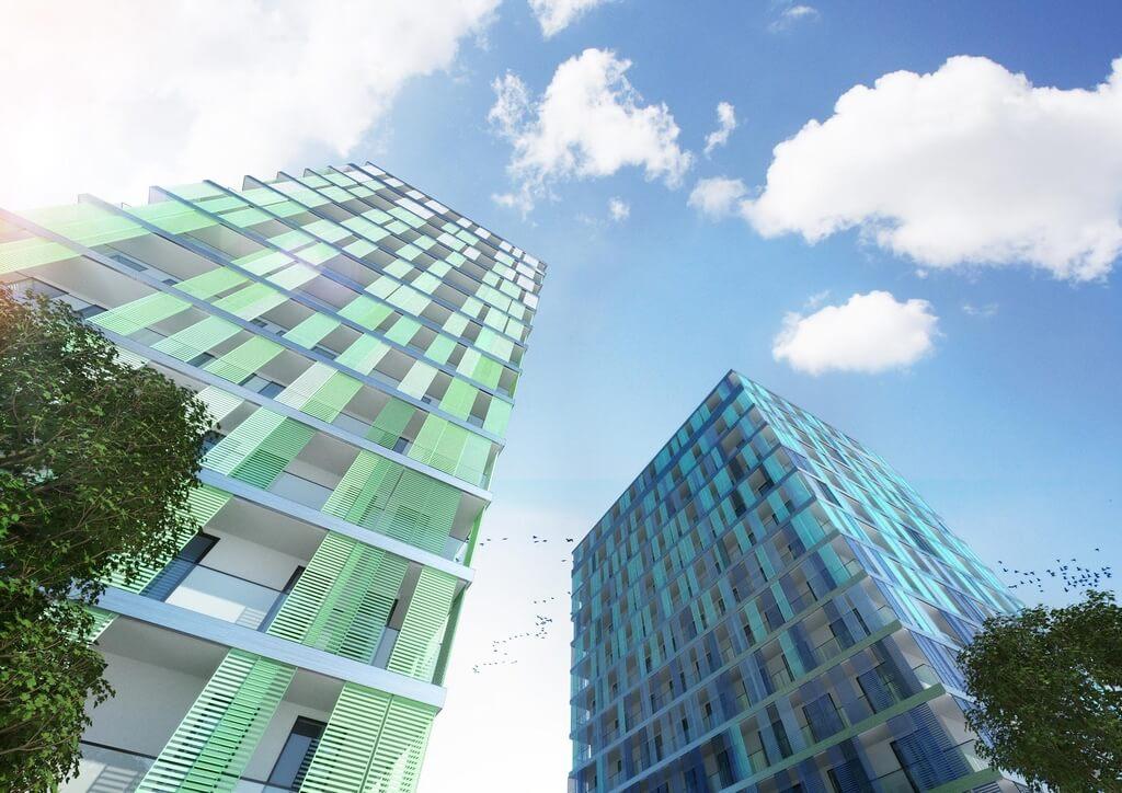 Blue Towers geplante Hochhäuser - (c) planwerkstatt.Architekten