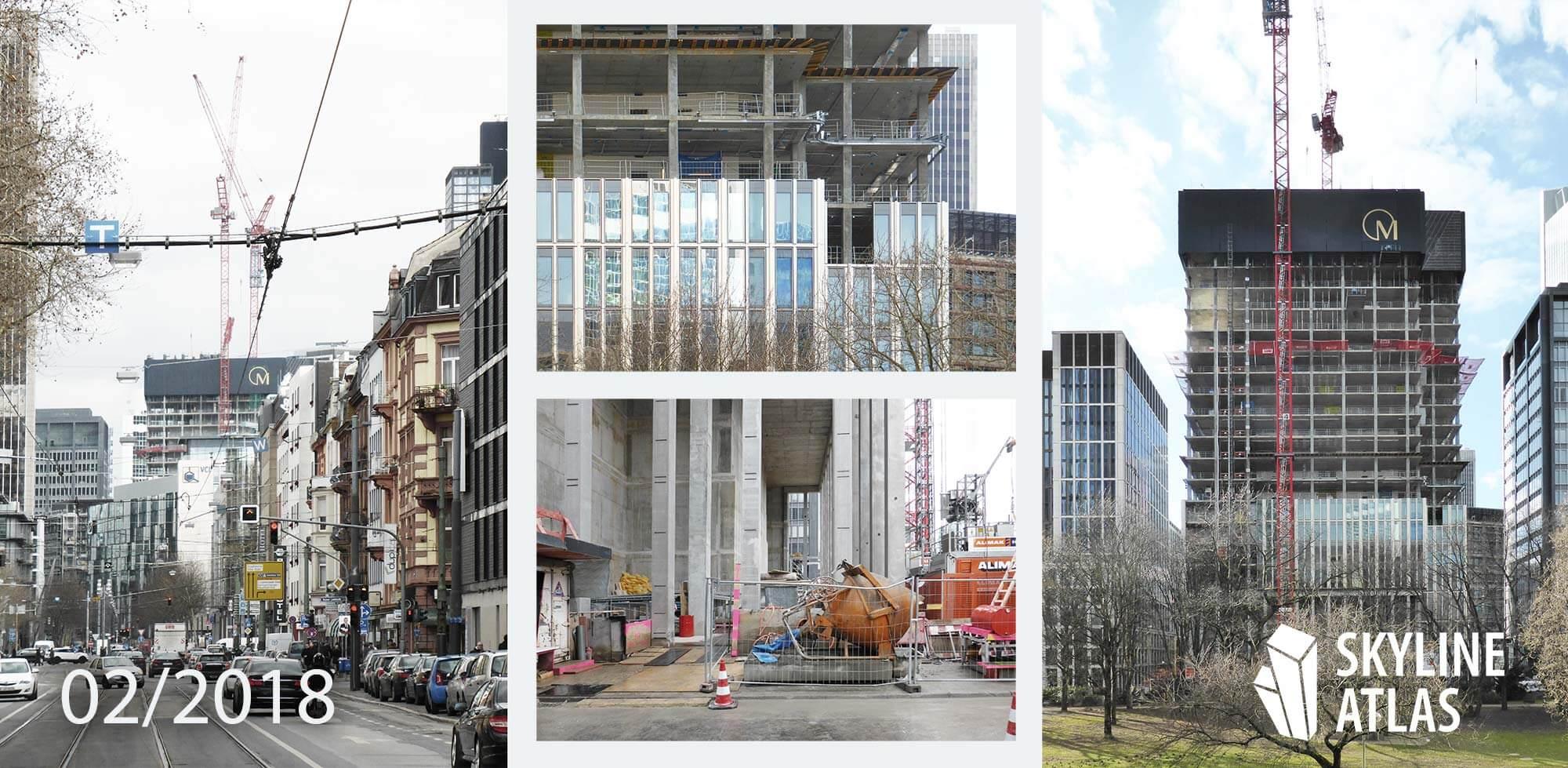 Marienturm Marieninsel Februar 2018 - Wolkenkratzer Hochhaus - im Bau