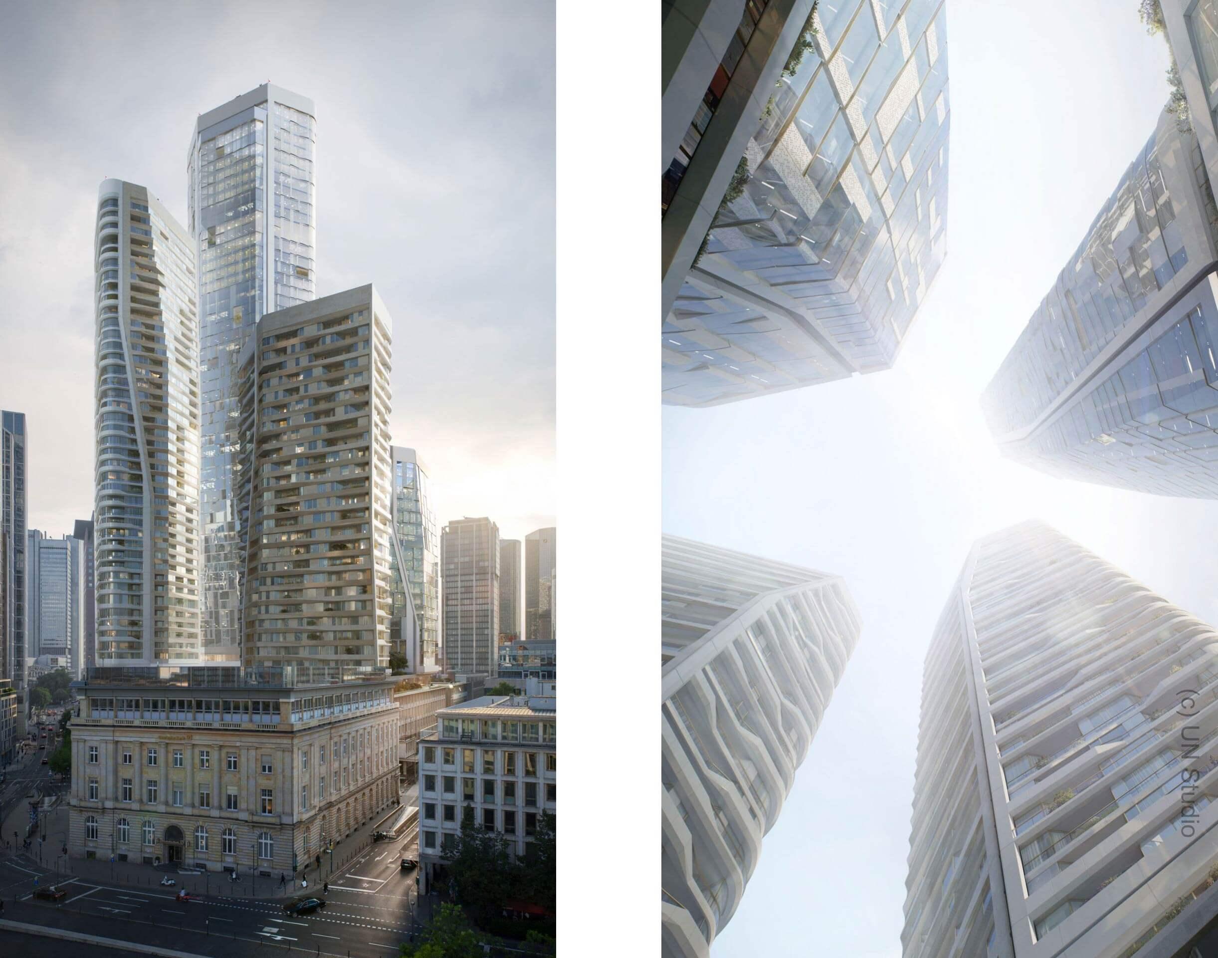 Deutsche Bank Areal - FOUR Frankfurt - UN Studio - geplante Hochhäuser