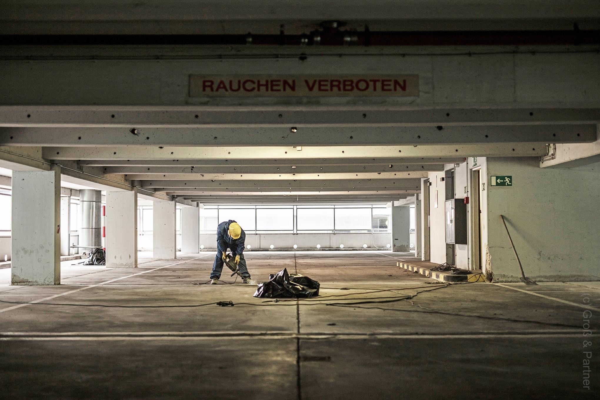 Deutsche Bank Areal Hochhäuser - Entkernung und Abriß im Jahre 2018