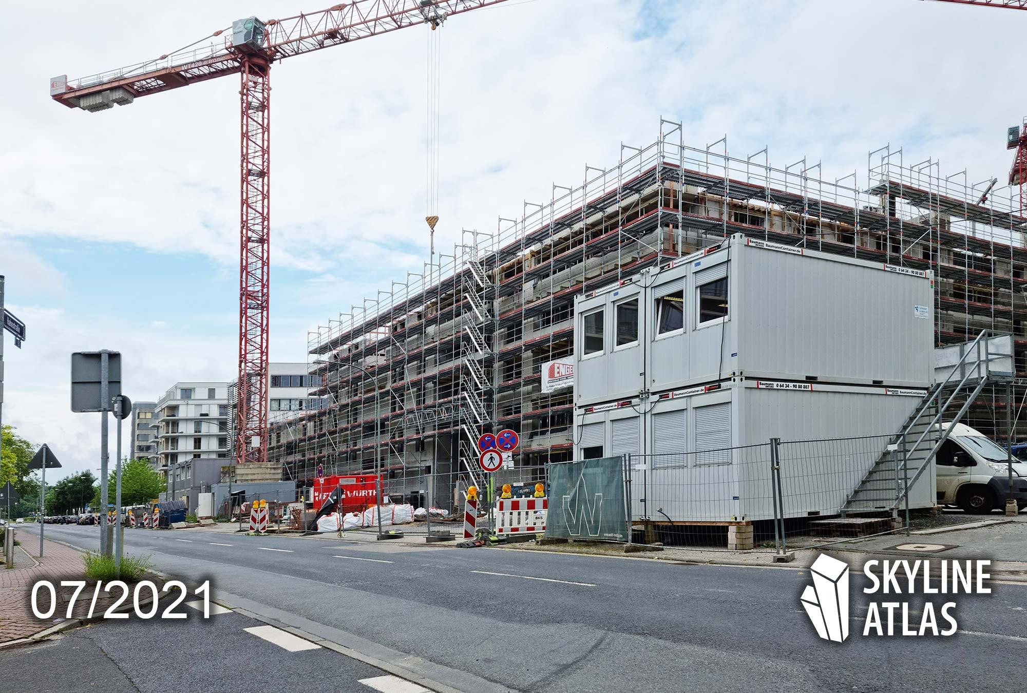 Hahnstraße 48 Frankfurt am Main - Hahnstraße FFM - Baustelle - Wohnungen - Juli 2021