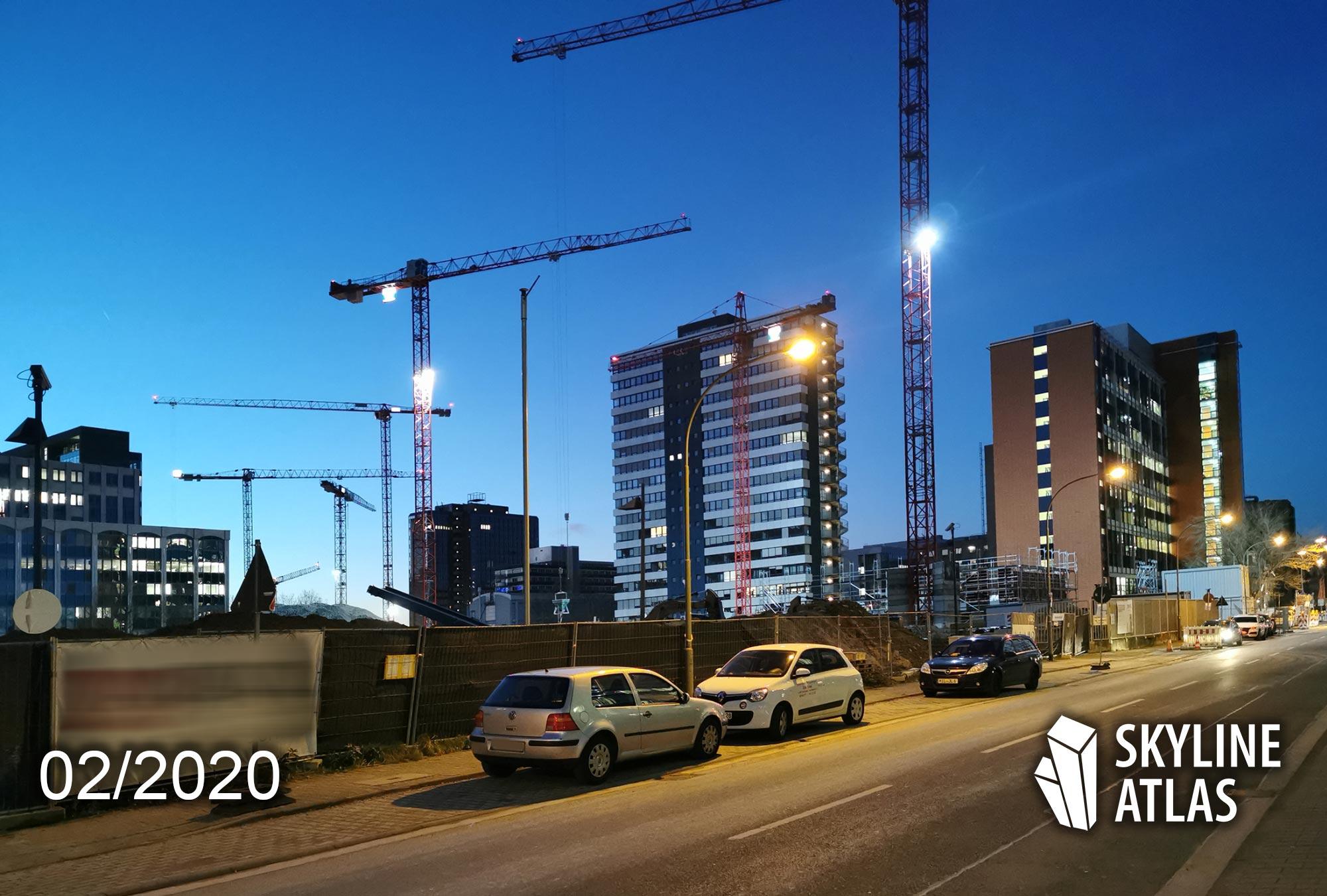 Hahnstrasse 48 - Lyoner Viertel - Neubauwohnungen Frankfurt - Baustelle Februar 2020