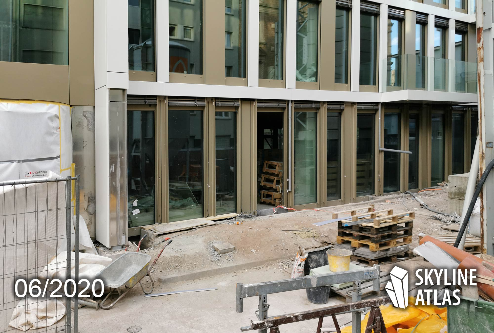 MORROW Frankfurt am Main - Fassade - Bürohaus Westend Frankfurt - Baustelle Morrow - Bauarbiten im Sommer 2020