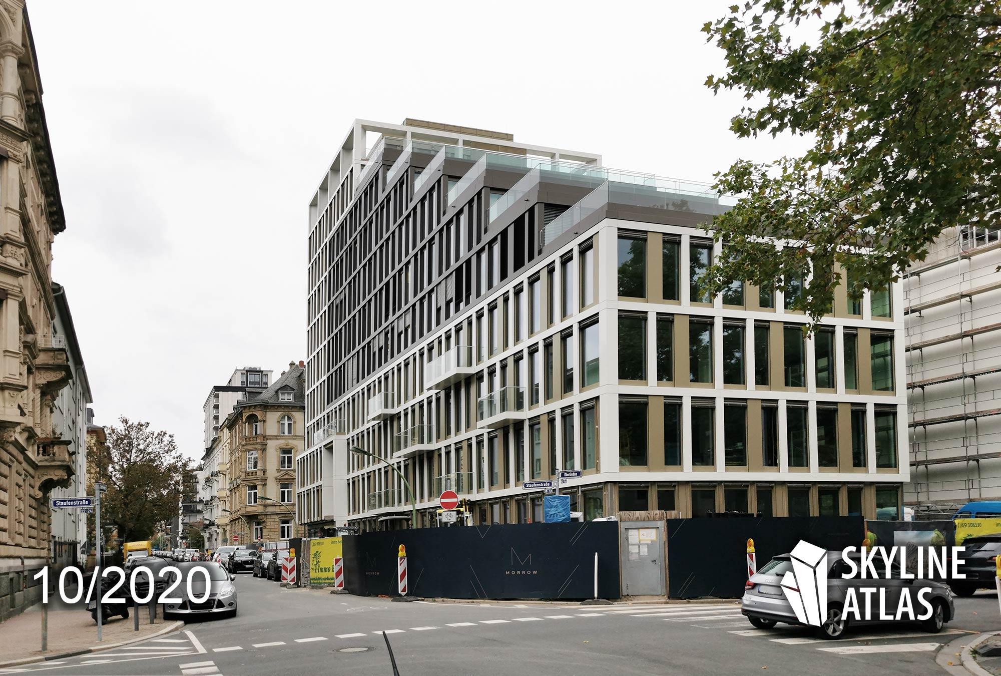 MORROW Frankfurt Westend - Morrow Oberlindau - ART INVEST und RED SQUARE Projektentwicklung - Neubau Westend Büroflächen - Baustelle Oktober 2020
