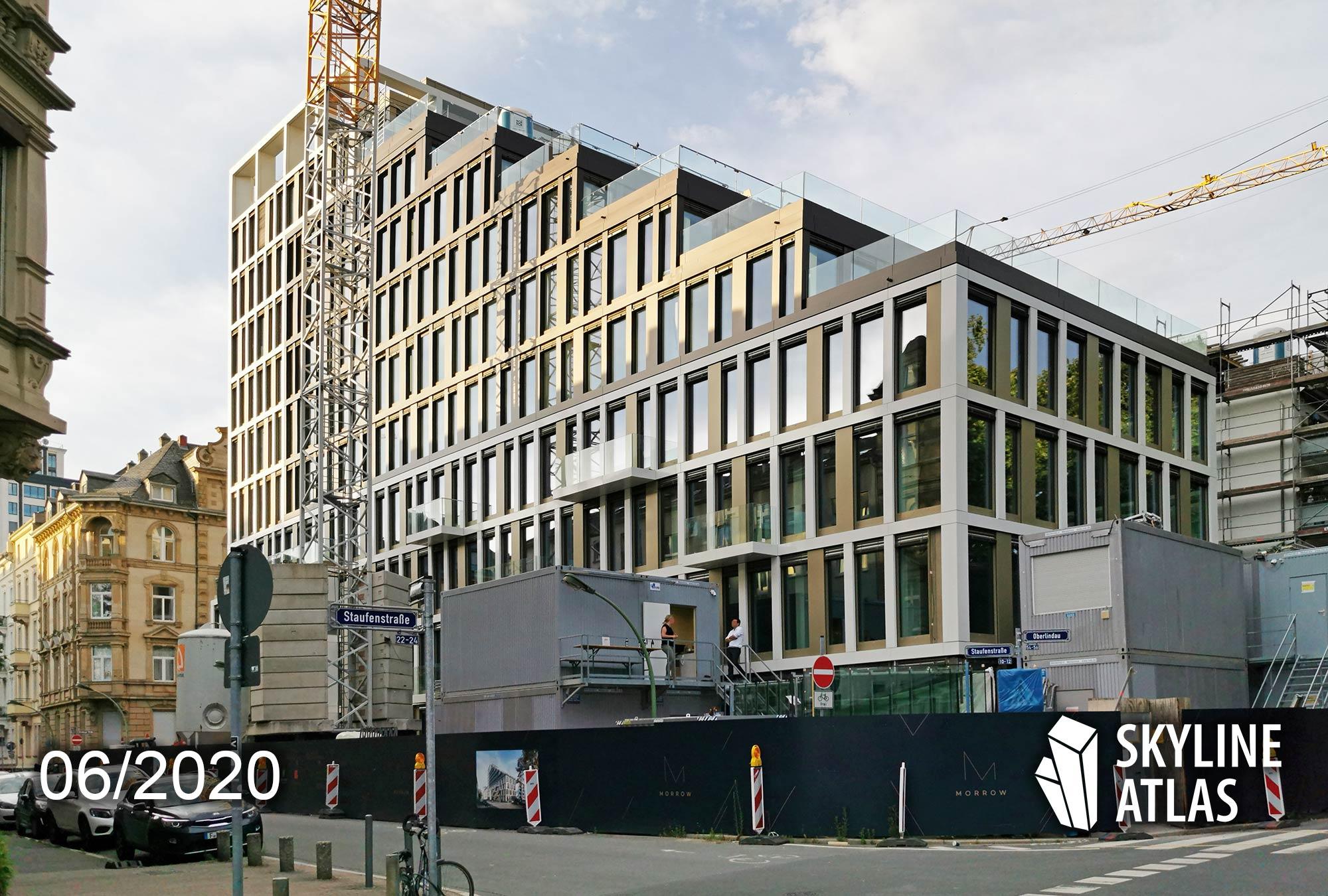 MORROW Westend in Frankfurt - Hochhaus mit Büroräumen zur Miete - Holger Meyer Architektur - Projekt von Art Invest und Red Square - Morrow Baufortschritt im Juni 2020