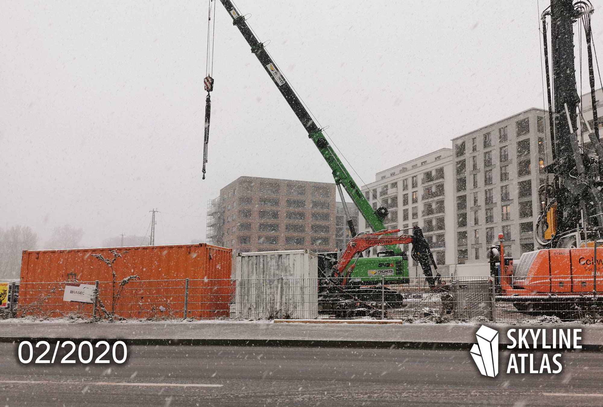 Great East Frankfurt - Mietwohnungen Ostend - Eigentumswohnungen Ostend - Neubau Ostend - Baustelle Februar 2020 - Baufortschritt