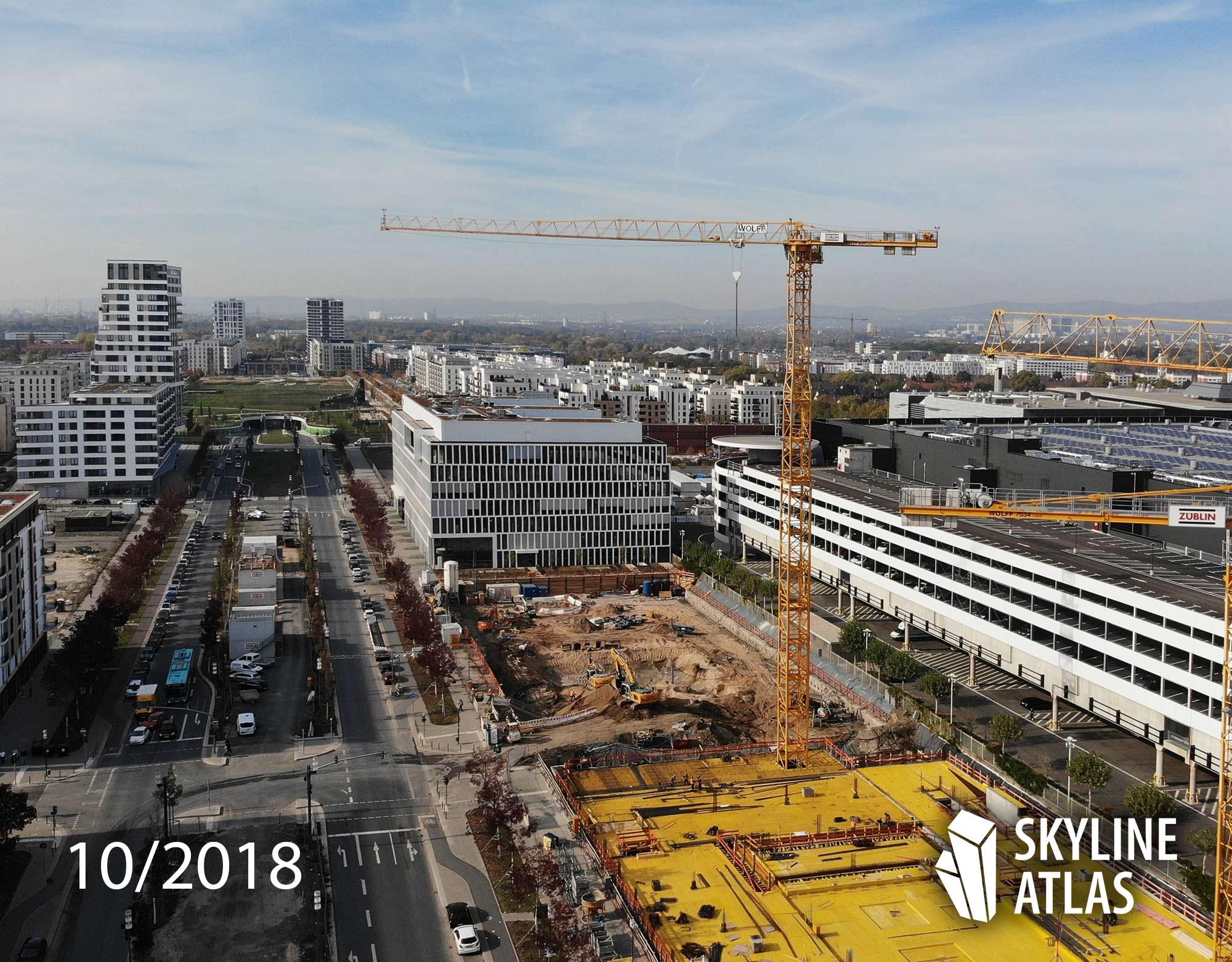 DB Tower - Deutsche Bahn AG - im Bau im Oktober 2018