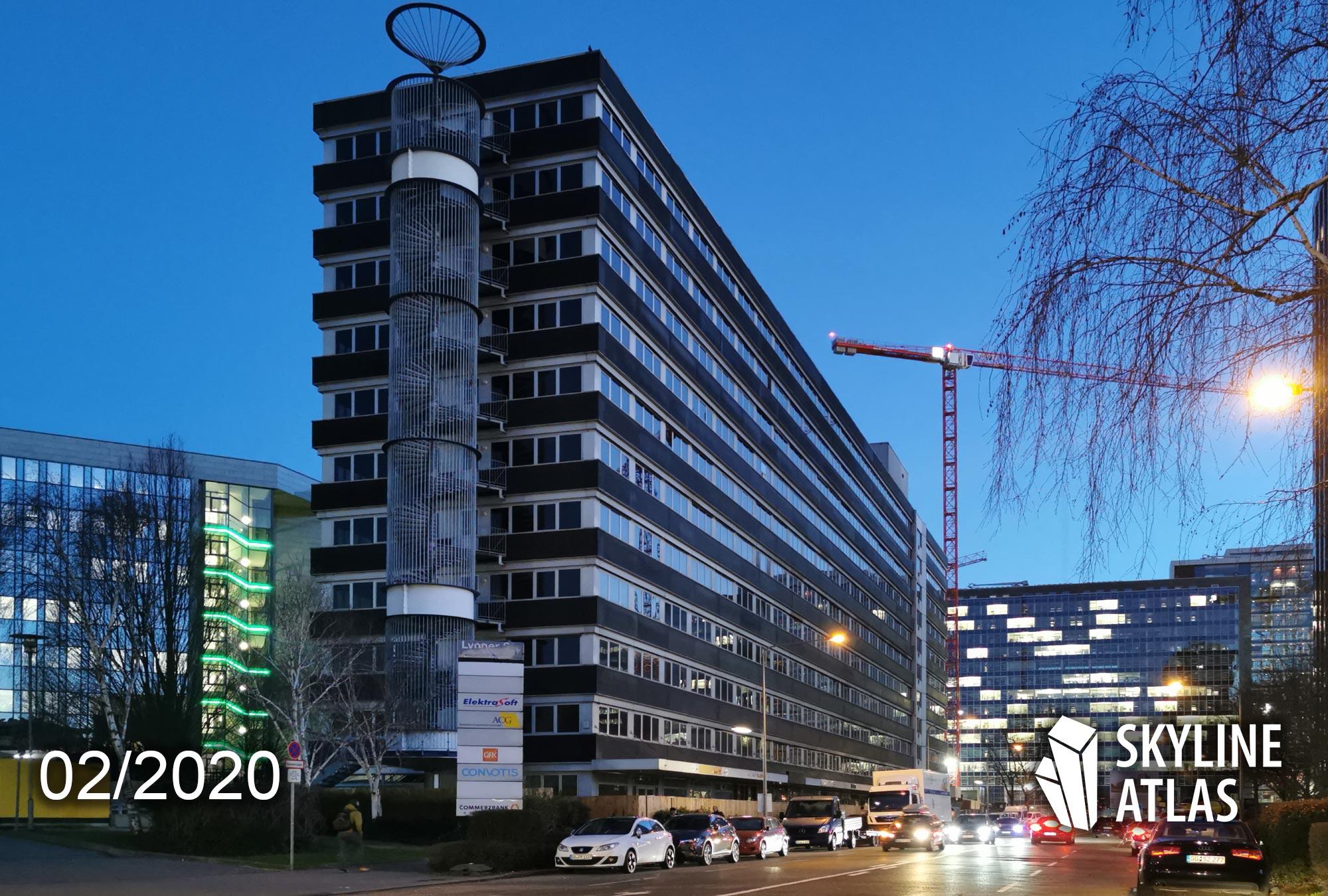 Lyoner Straße 11 in Frankfurt - Neubau Wohnheim - Februar 2020