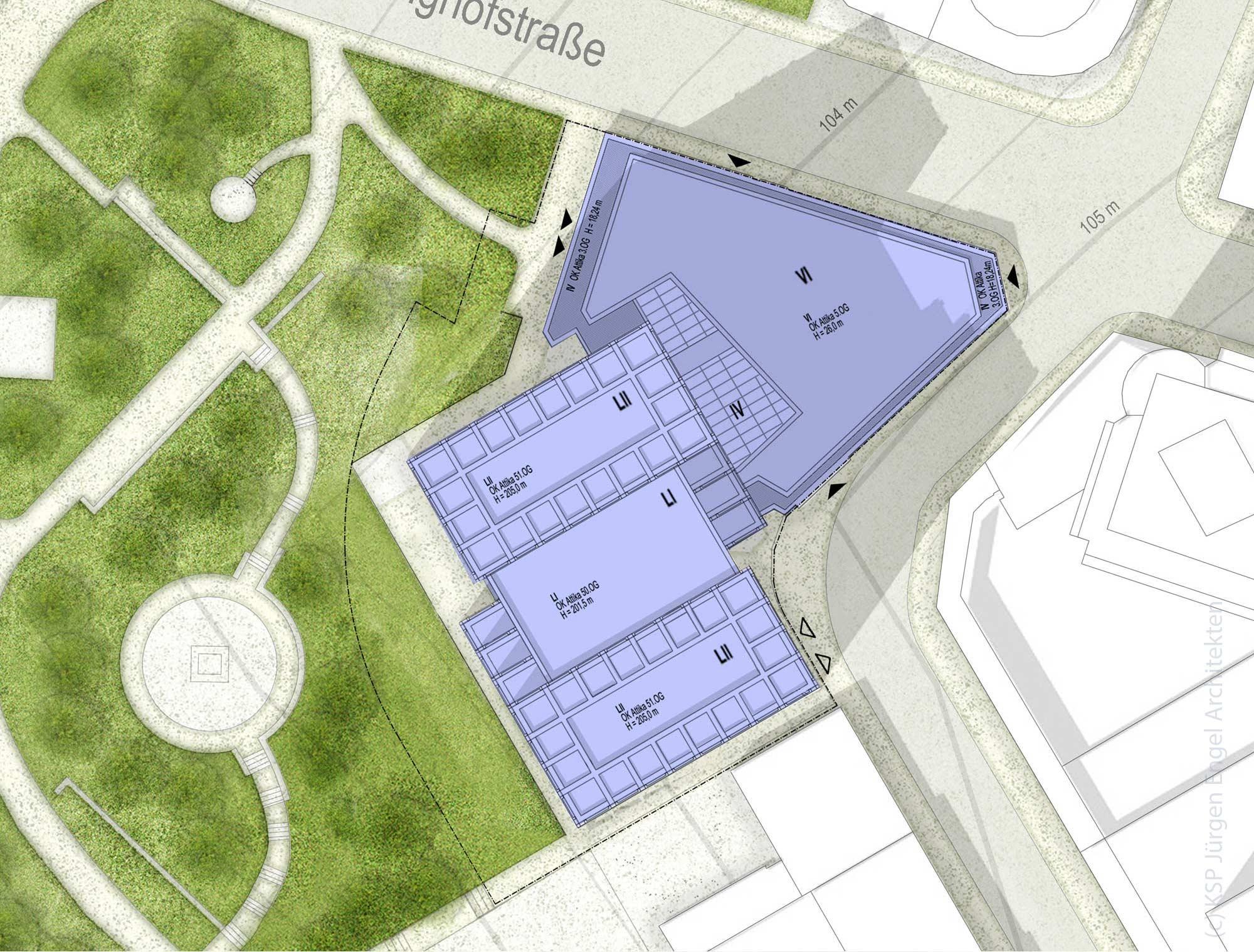 Lageplan Helaba Hochhaus Frankfurt - Neue Mainzer Straße - Mikro