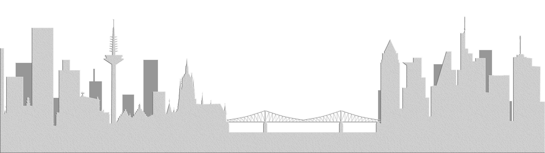 Frankfurt - Hochhausrahmenplan 2021 - Hochhausentwicklungsplan 2020 - Hochhausplan 2021 - Skyline Frankfurt gemalt