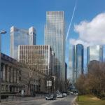 Marienturm Frankfurt 2019 - Hochhaus Bankenviertel - Bürohochhaus - Marieninsel - Wolkenkratzer - modernes Bürogebäude
