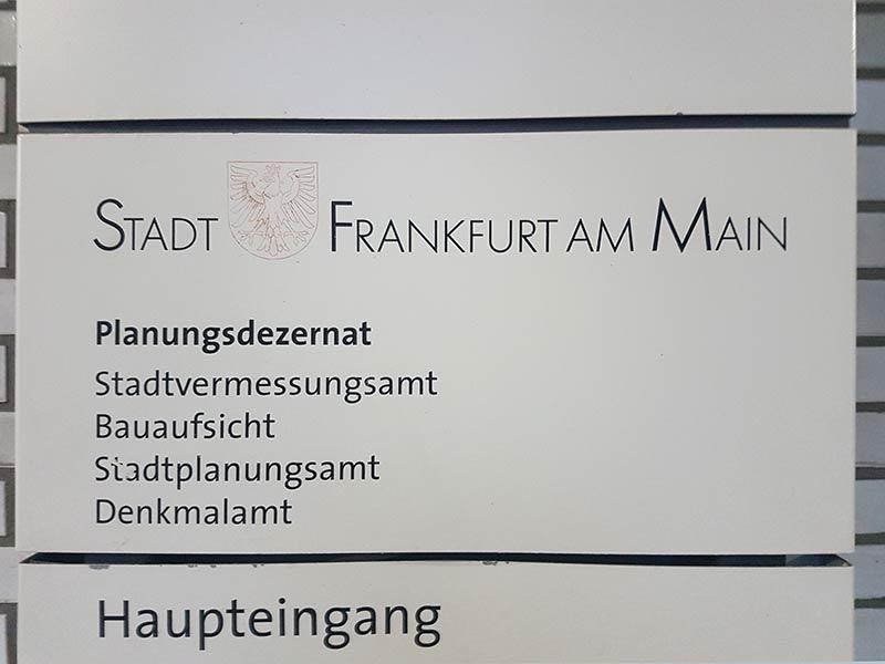 Stadt Frankfurt am Main - Planungsdezernat - Stadtvermessungsamt - Bauaufsicht - Stadtplanungsamt - Denkmalamt
