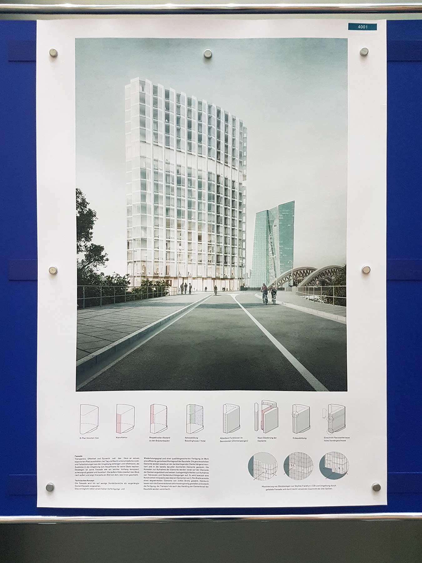 Waterfront - B&L Gruppe - Hotelturm - Frankfurt - Architekturwettbewerb 1. Platz