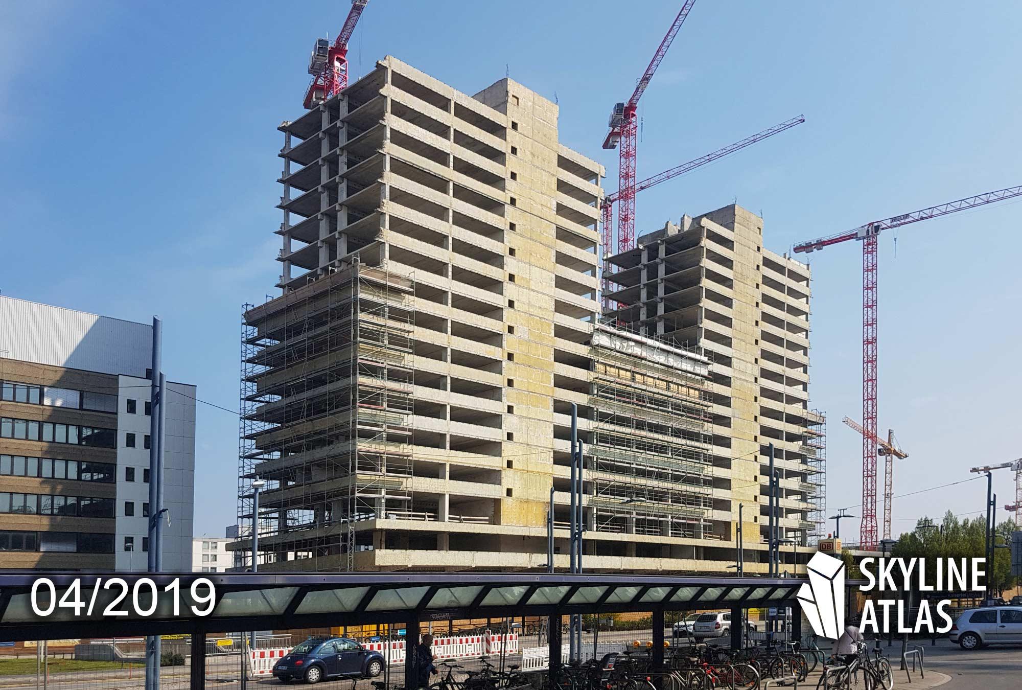 New Frankfurt Towers - Offenbach Kaiserlei - CG Gruppe - kleine Wohnungen