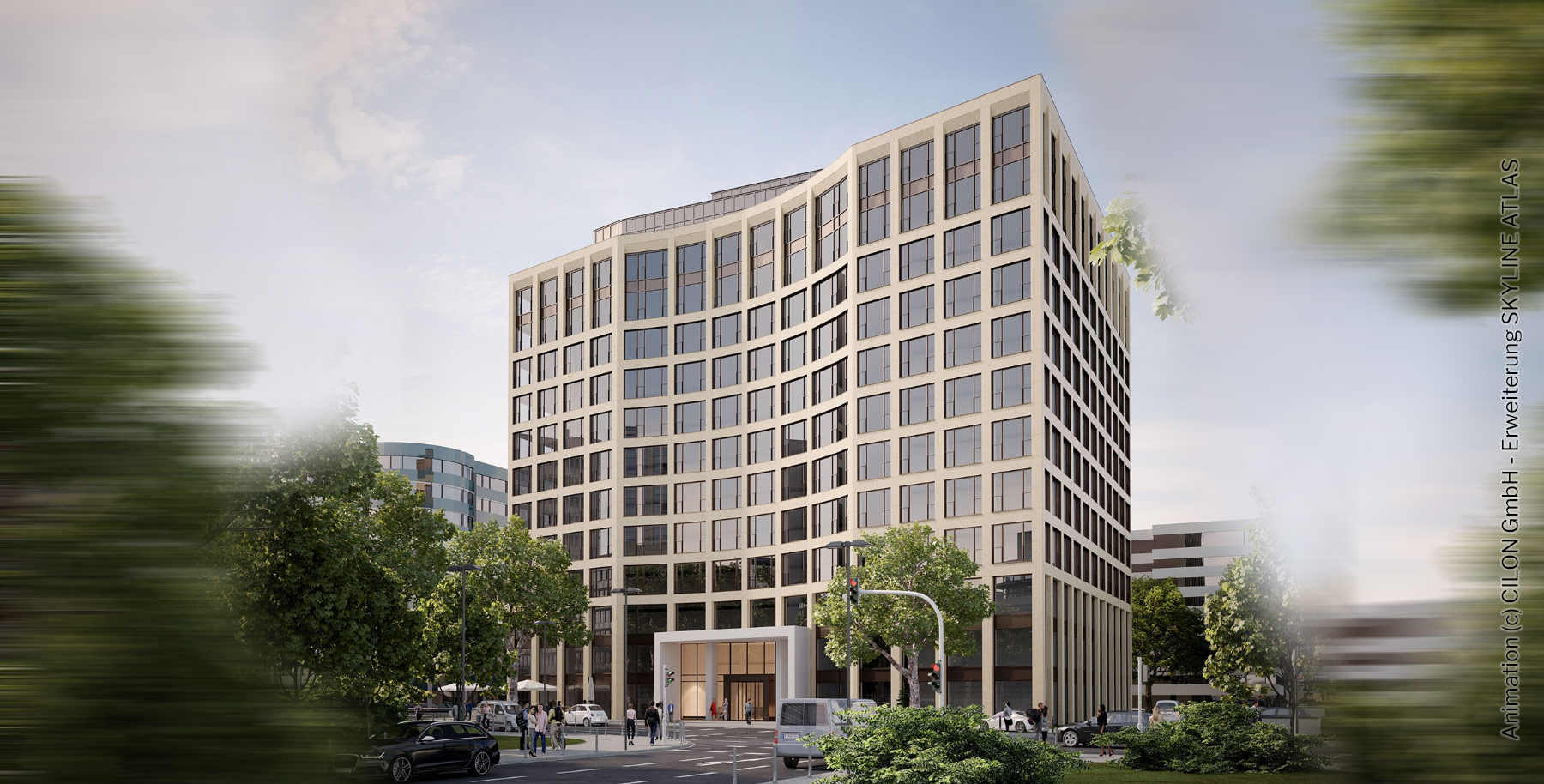Sky Eschborn - Bürohaus in Eschborn - Moderne Büroflächen zur Miete - Vermietung - Bürogebäude Neubau