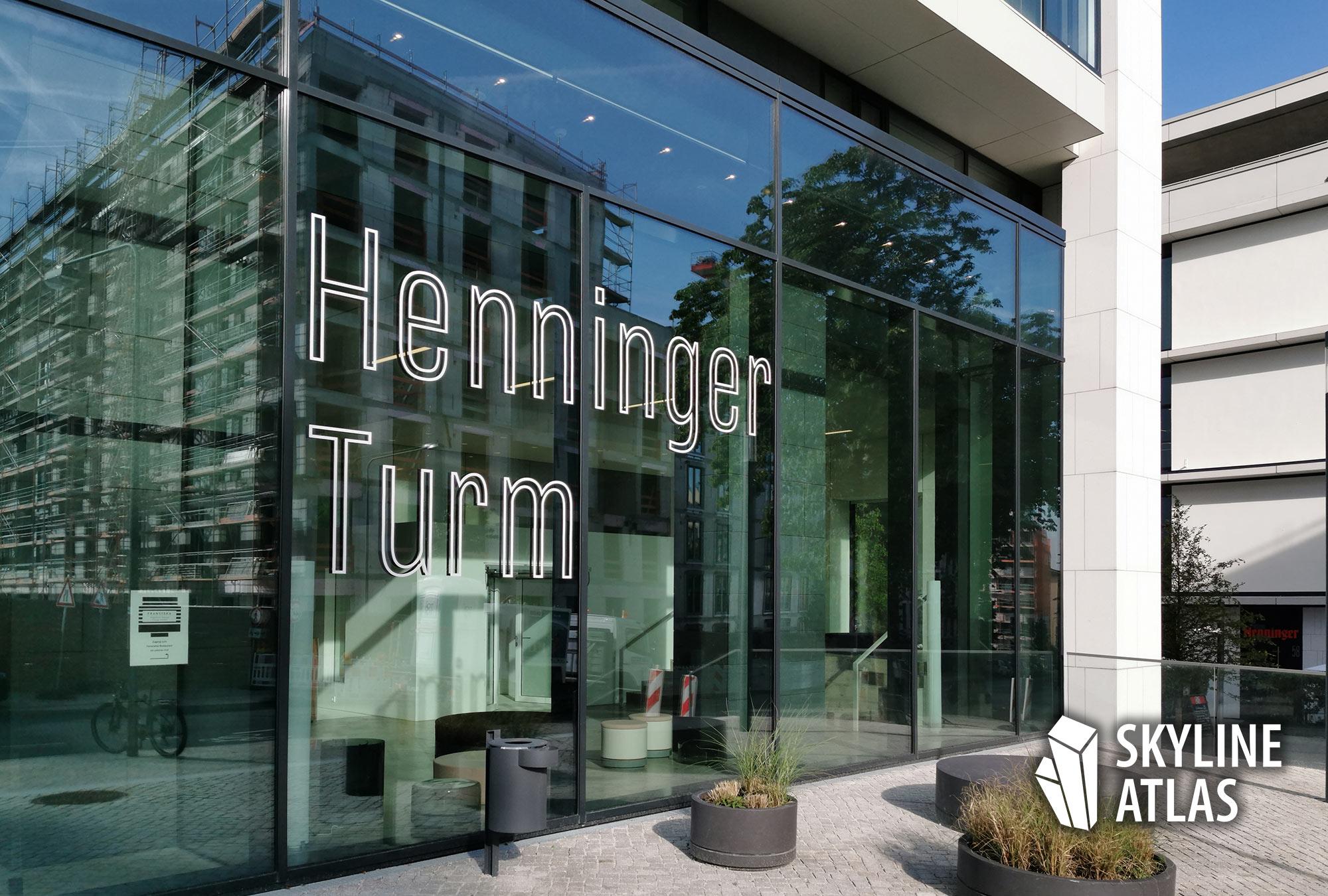 Henninger Turm - Adresse - Eingang - Logo