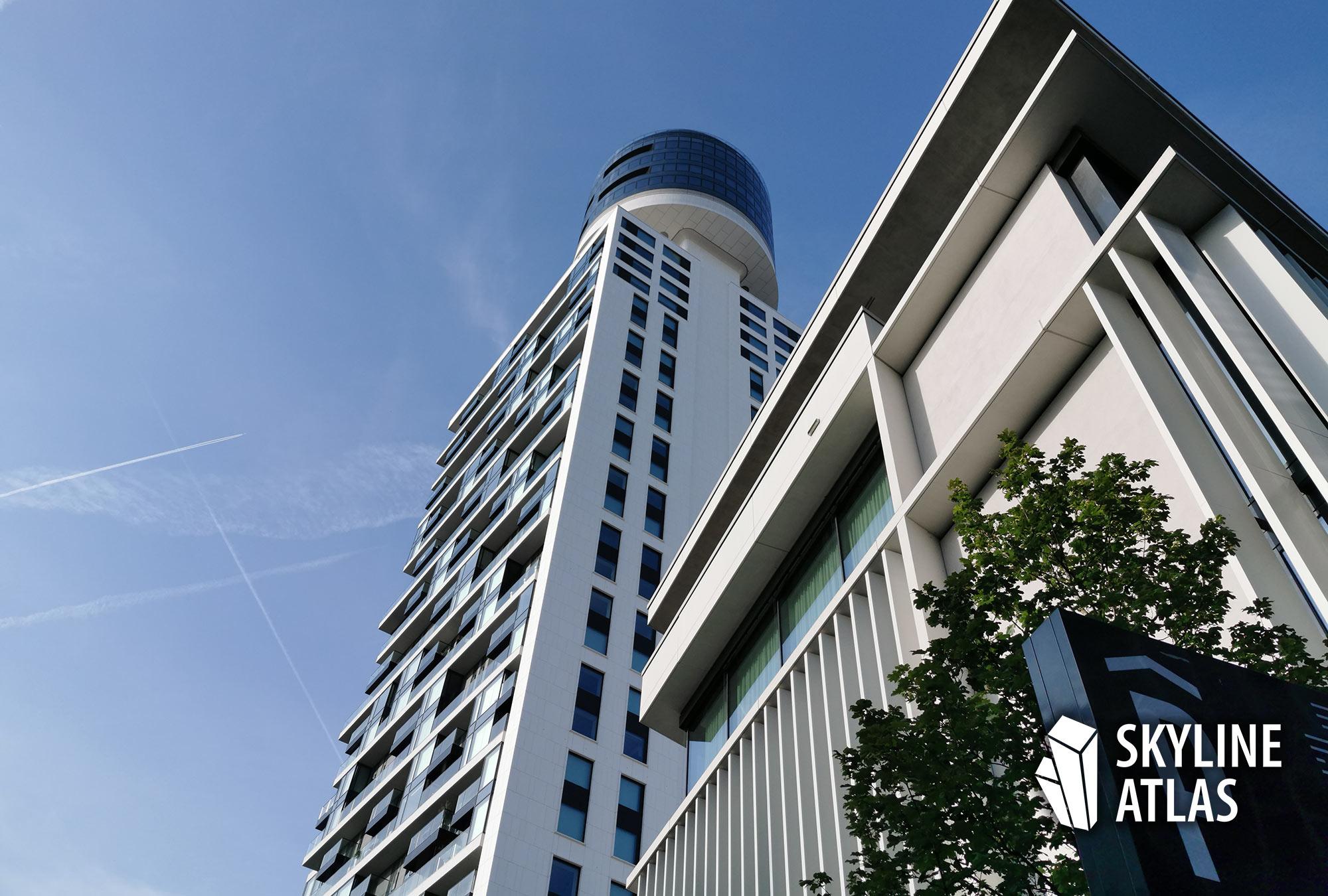 Hoch hinaus: Im Henninger Turm kann man mit dem nötigen Kleingeld eine Wohnung kaufen - im Umfeld entstehen mit den Stadtgärten weitere Neubauwohnungen
