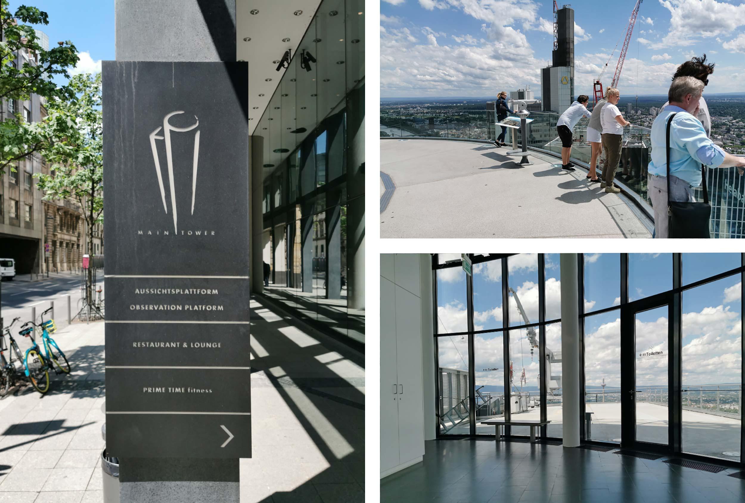Sehenswürdigkeit in Frankfurt - MAIN TOWER Aussichtsterrasse - Aussichtsturm - Öffnungszeiten der Plattform - Tipps für Touristen