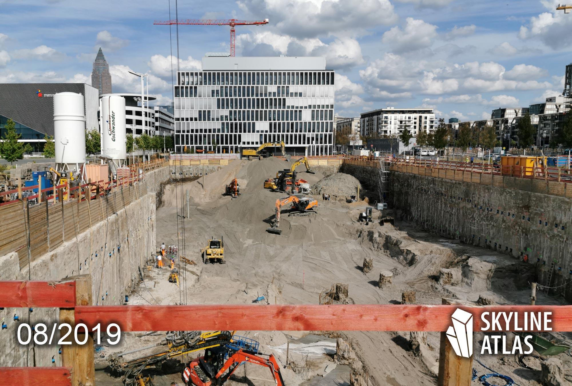 FAZ Hochhaus in Frankfurt - Neuer Hauptsitz der Frankfurter Allgemeine Zeitung - Neubau Europaviertel - FAZ Turm - Projekt von Paulus Immobilien nach einem Entwurf von Eike Becker Architekten