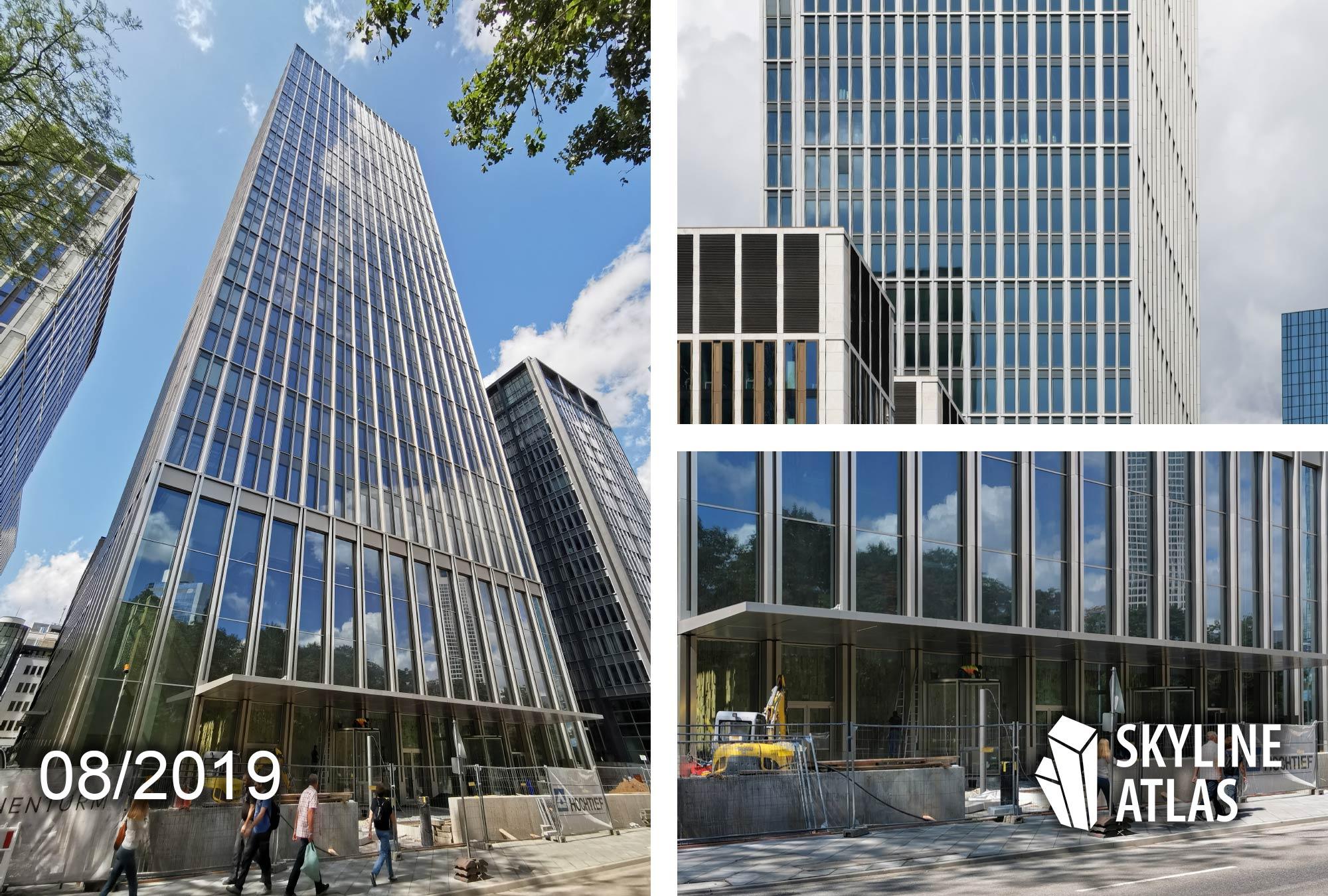 Marienturm in Frankfurt - Projekt Marieninsel von Pecan Development - Hauptsitz von Goldman Sachs Deutschland - Hochhaus Taunusanlage - August 2019
