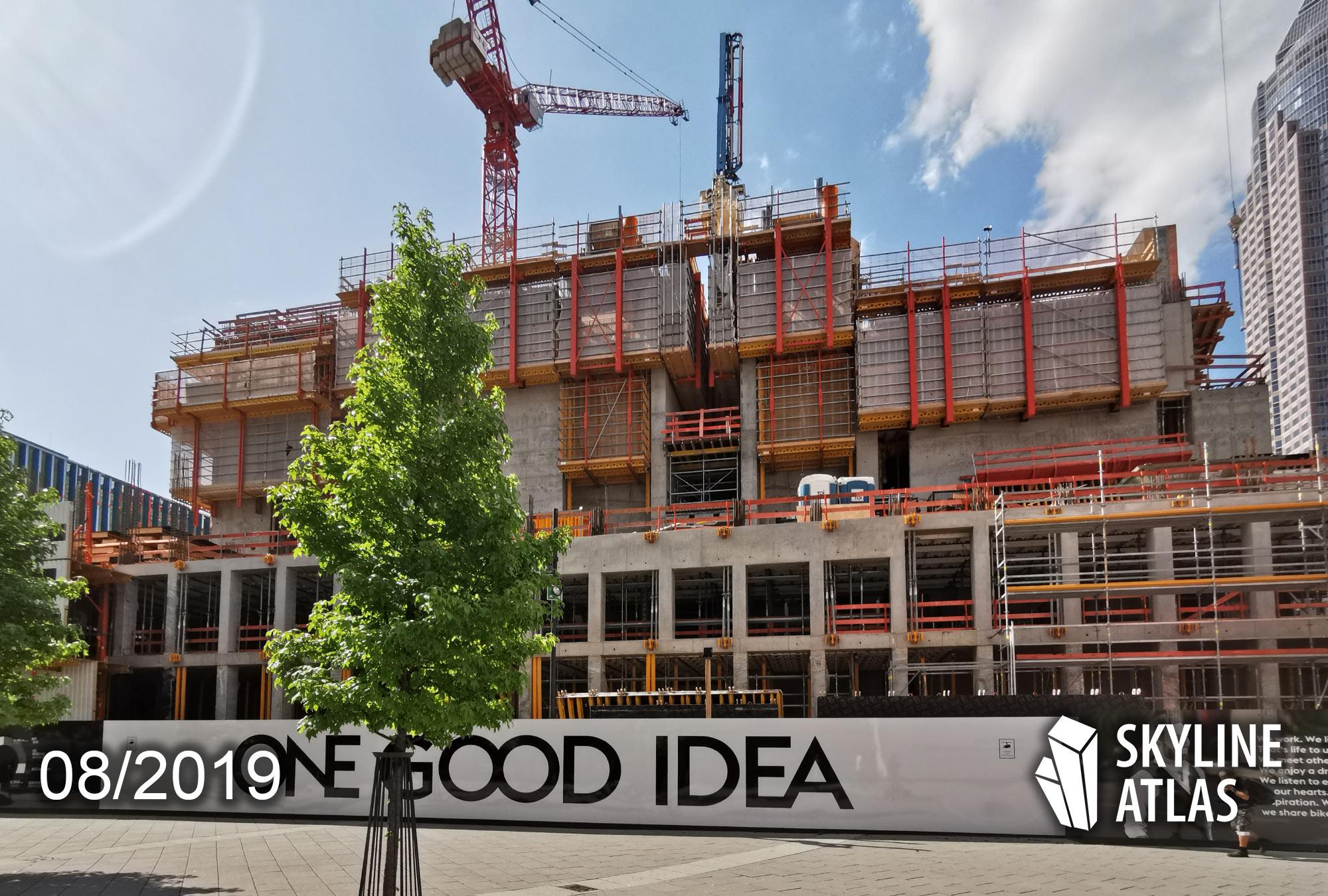 ONE GOOD IDEA - ONE Hochhaus in Frankfurt - Wolkenkratzer im Europaviertel Frankfurt am Skyline Plaza - August 2019