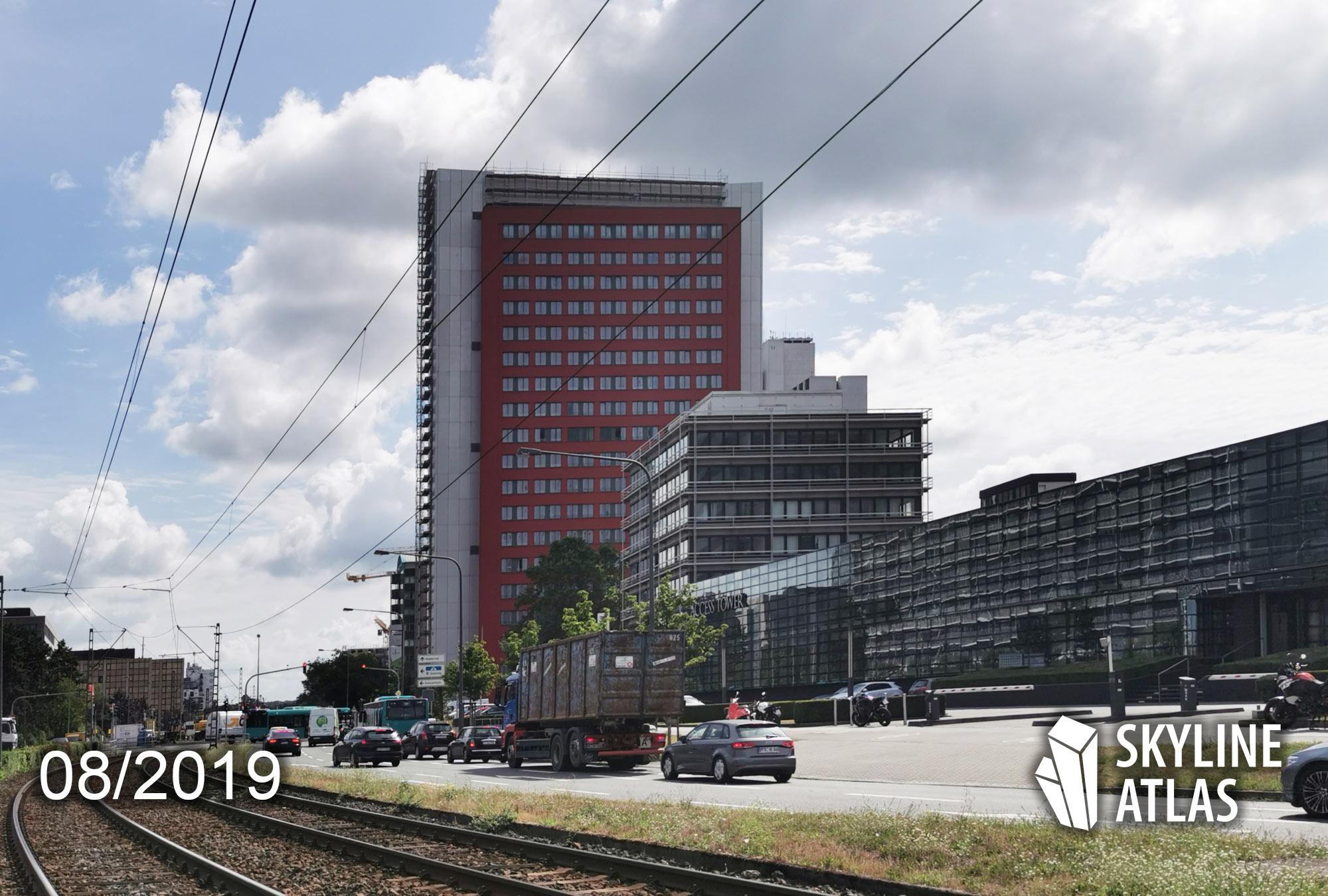 Ruby Tower in Frankfurt-Niederrad - GWH Wohnturm - Wohnen - Hochhaus im August 2019