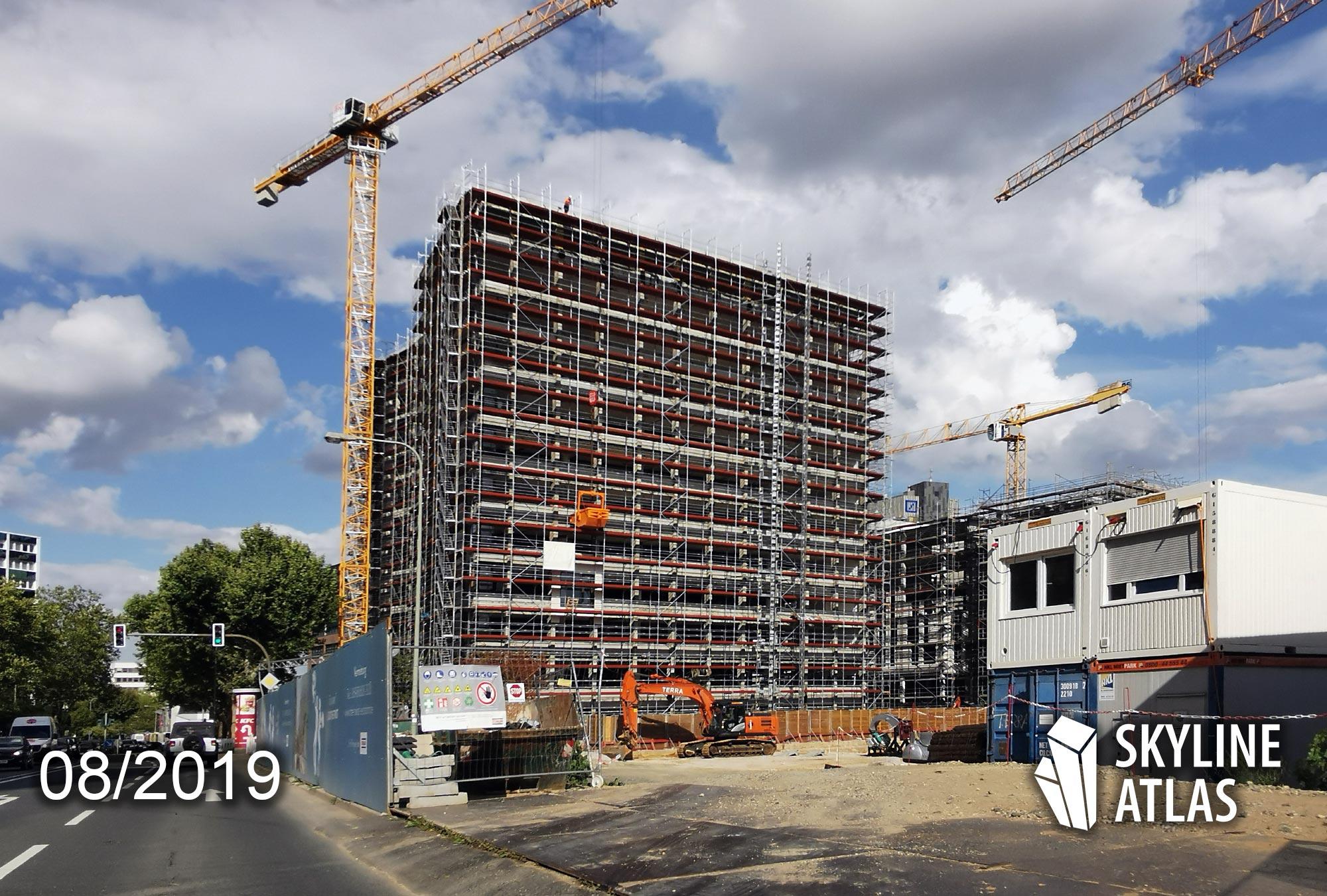 Sky Eschborn - Bürogebäude Eschborn - Büros Eschborn - Büroimmobilie im Wirtschaftszentrum im Bau - Bürohaus im August 2019