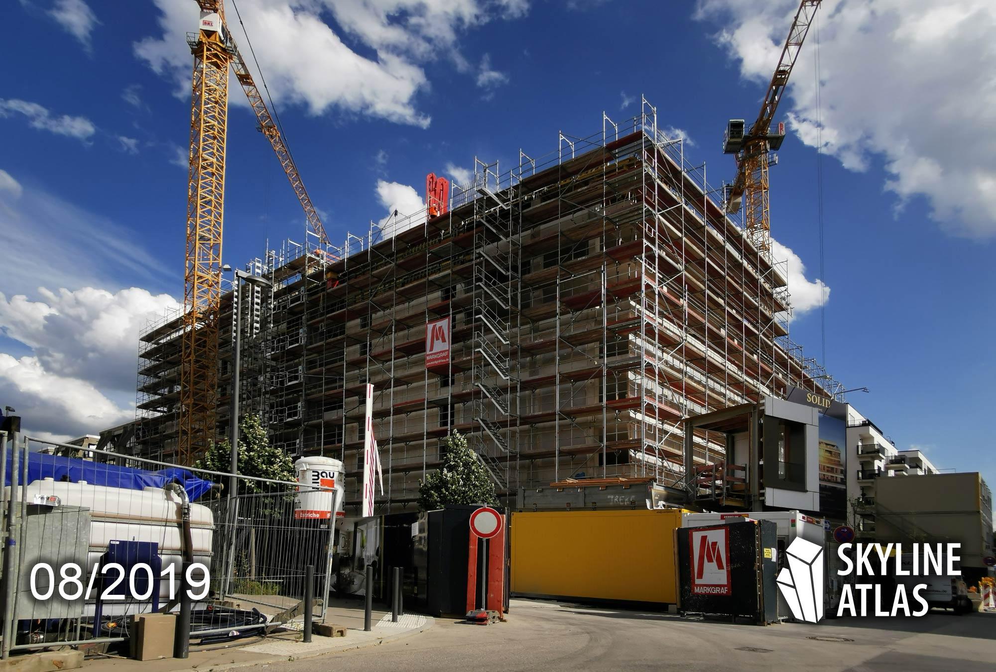 SOLID HOME in Frankfurt am Main - Neubau-Wohnungen zur Miete - Mietwohnungen und Eigentumswohnungen zum Kauf - Baustelle August 2019