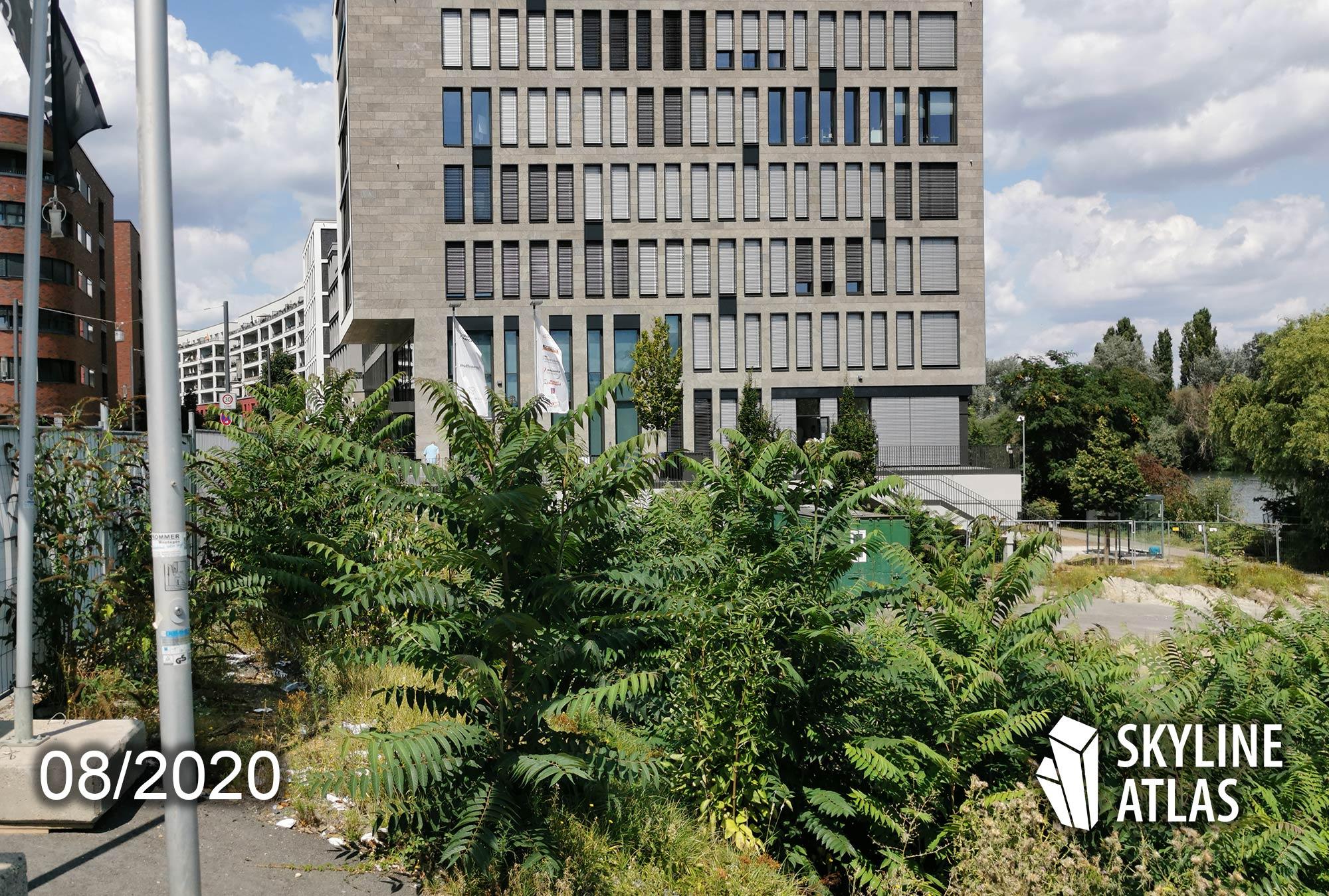 Wave Offenbach - Hochhaus vom Projektentwickler Eyemaxx Real Estate AG - Baustelle und Baufortschritt im August 2020 - Architekt Meixner Schlüter Wendt - Wayv August 2020 - Main East Gate Offenbach