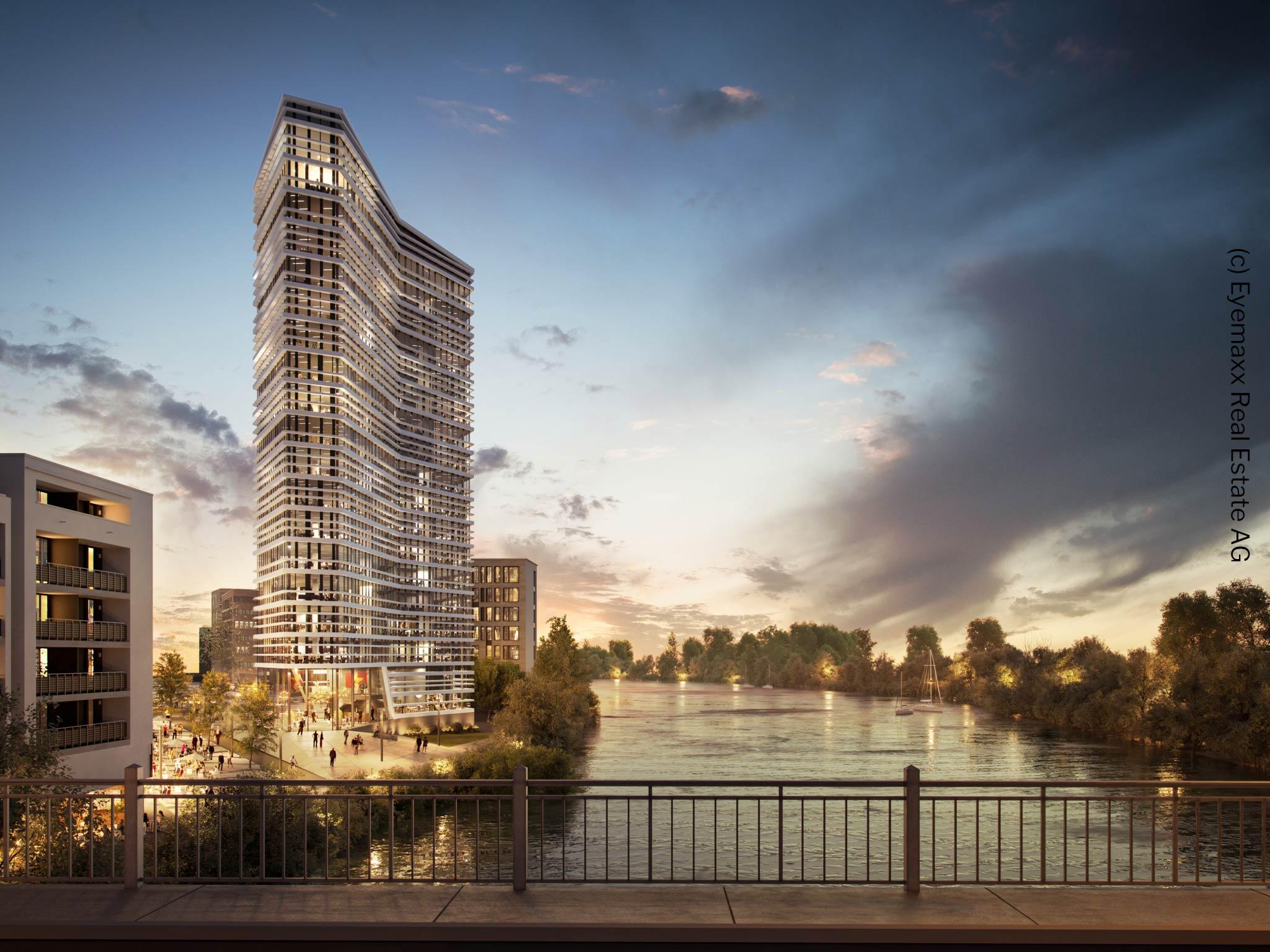 Wayv Tower Offenbach - Büroturm Hafenbiertel - Neues Hochhaus Meixner Schlüter Wendt