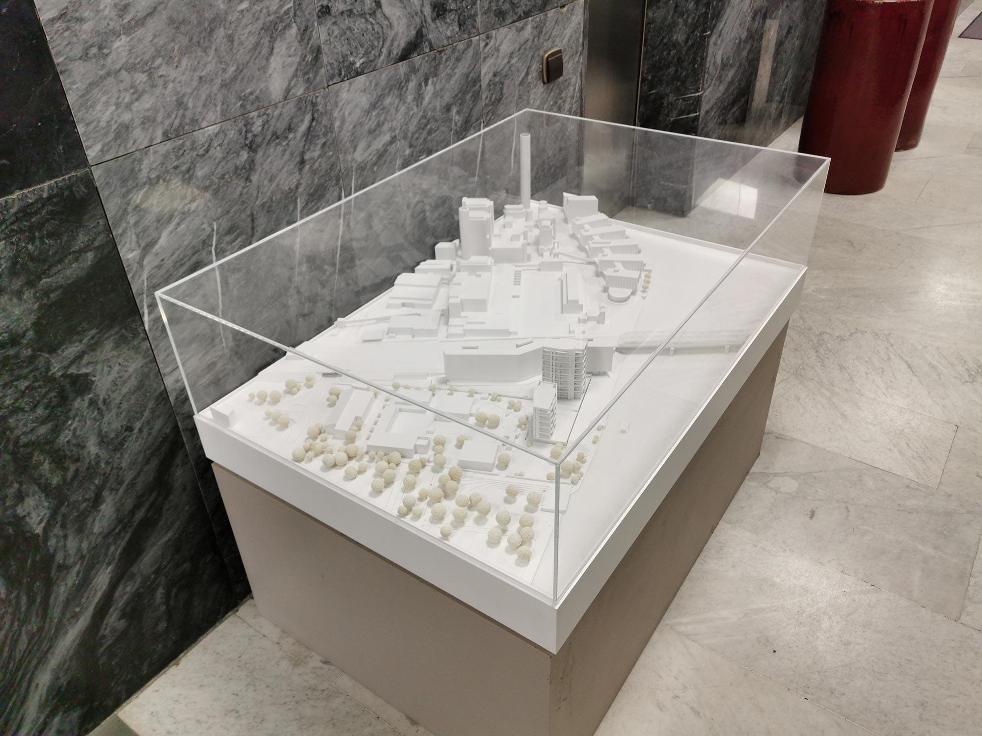 Cyrus Moser Architekten - Wohnen am Sommerhoffpark - Modell Hochhaus am Main in Frankfurt