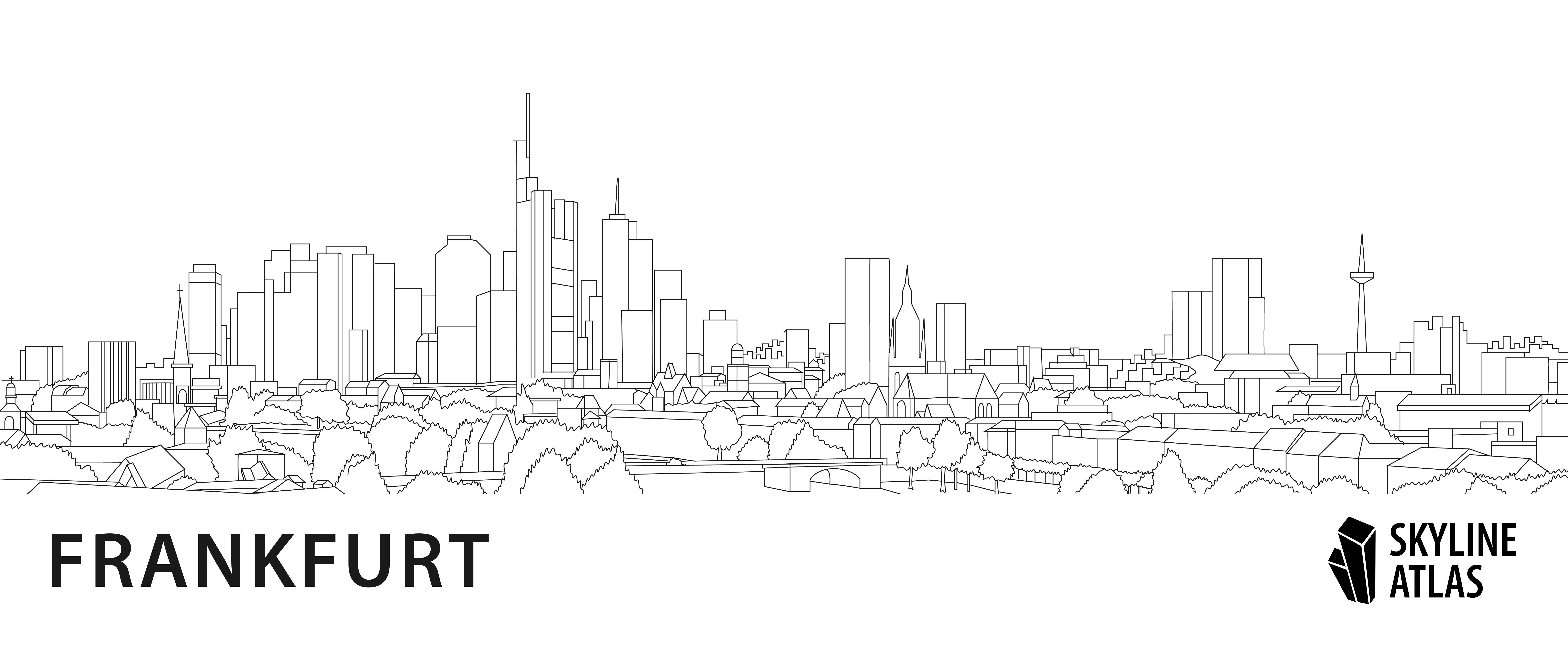 ausmalbild hochhäuser frankfurt  ausmalbilder frankfurt