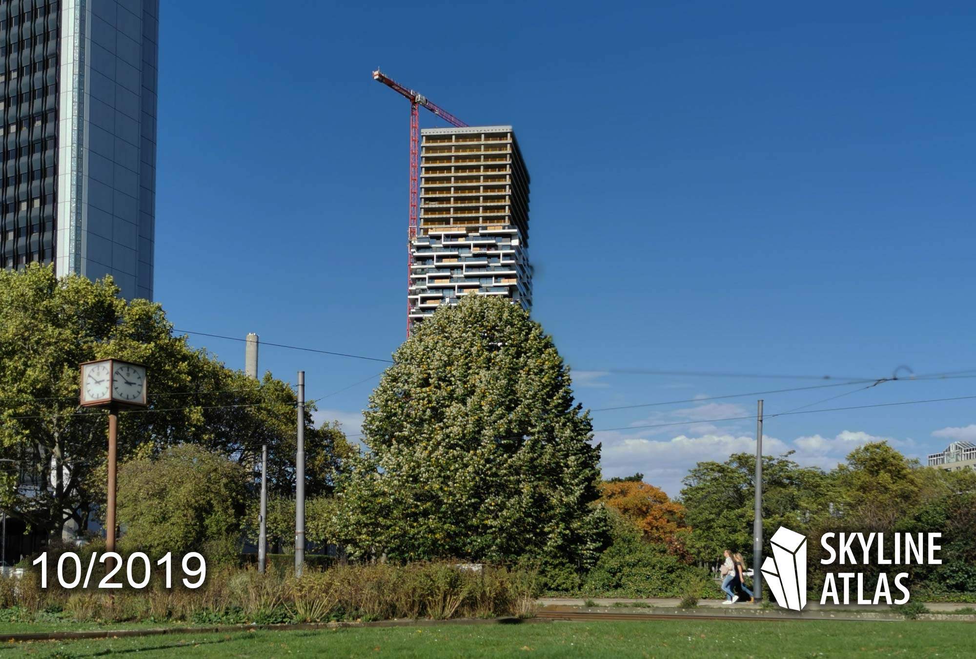 140 West Tower in Frankfurt am Main - Baustelle vom Wolkenkratzer One Forty West - CMA Architects - Oktober 2019