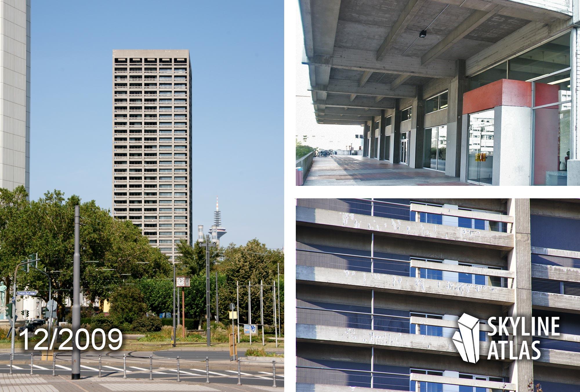AfE-Turm Frankfurt - Brutalismus Hochhaus - Campus Bockenheim - Universitätshochhaus