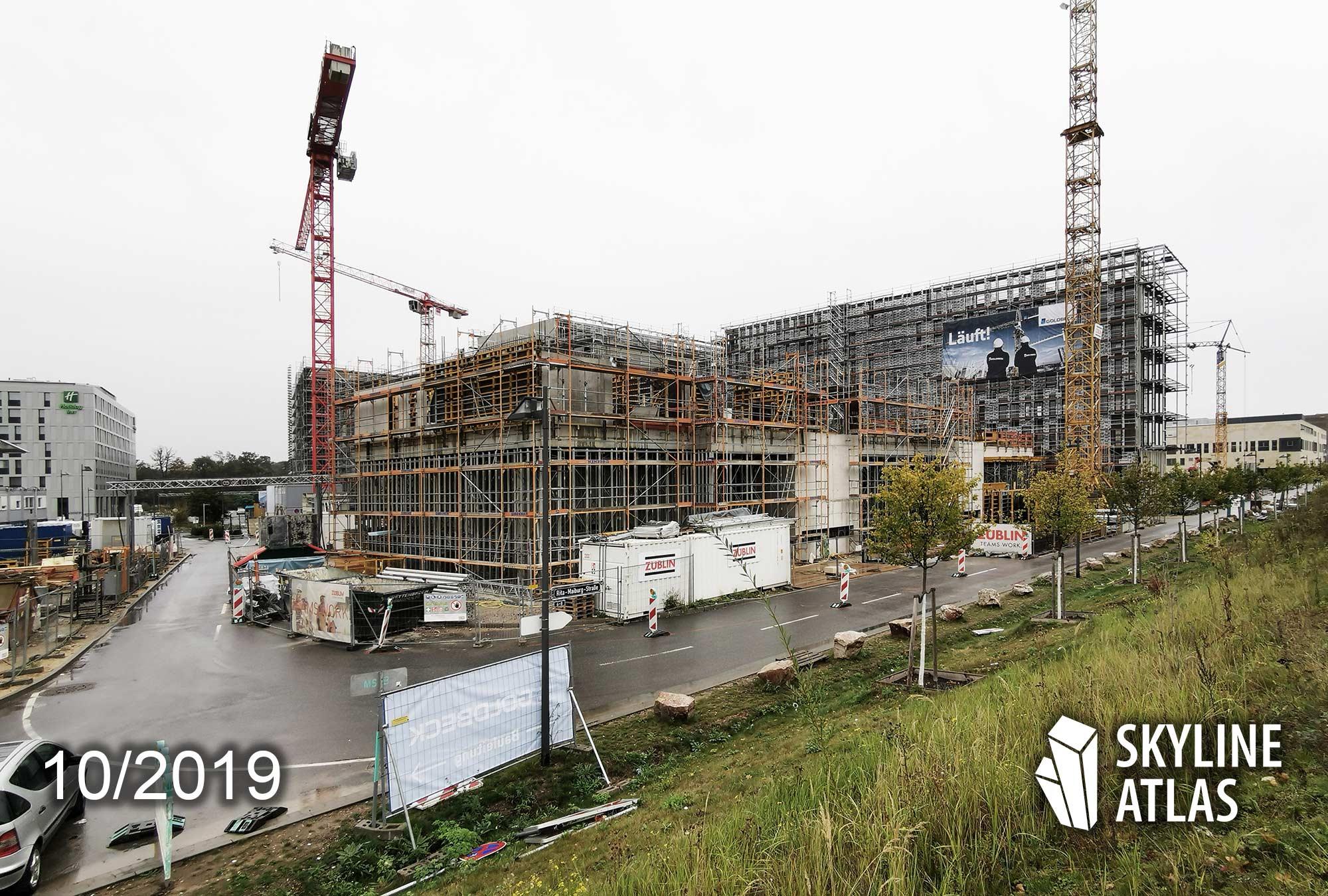 b'mine Hotel Frankfurt Airport - Carlift Hotel Frankfurter Flughafen - bmine Hotel Neubau Oktober 2019