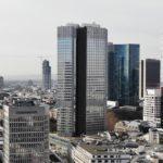 Eurotower in Frankfurt - Euro Tower der EZB - EZB Hochhaus am Willy-Brandt-Platz - Ehemaliges BfG Hochhaus