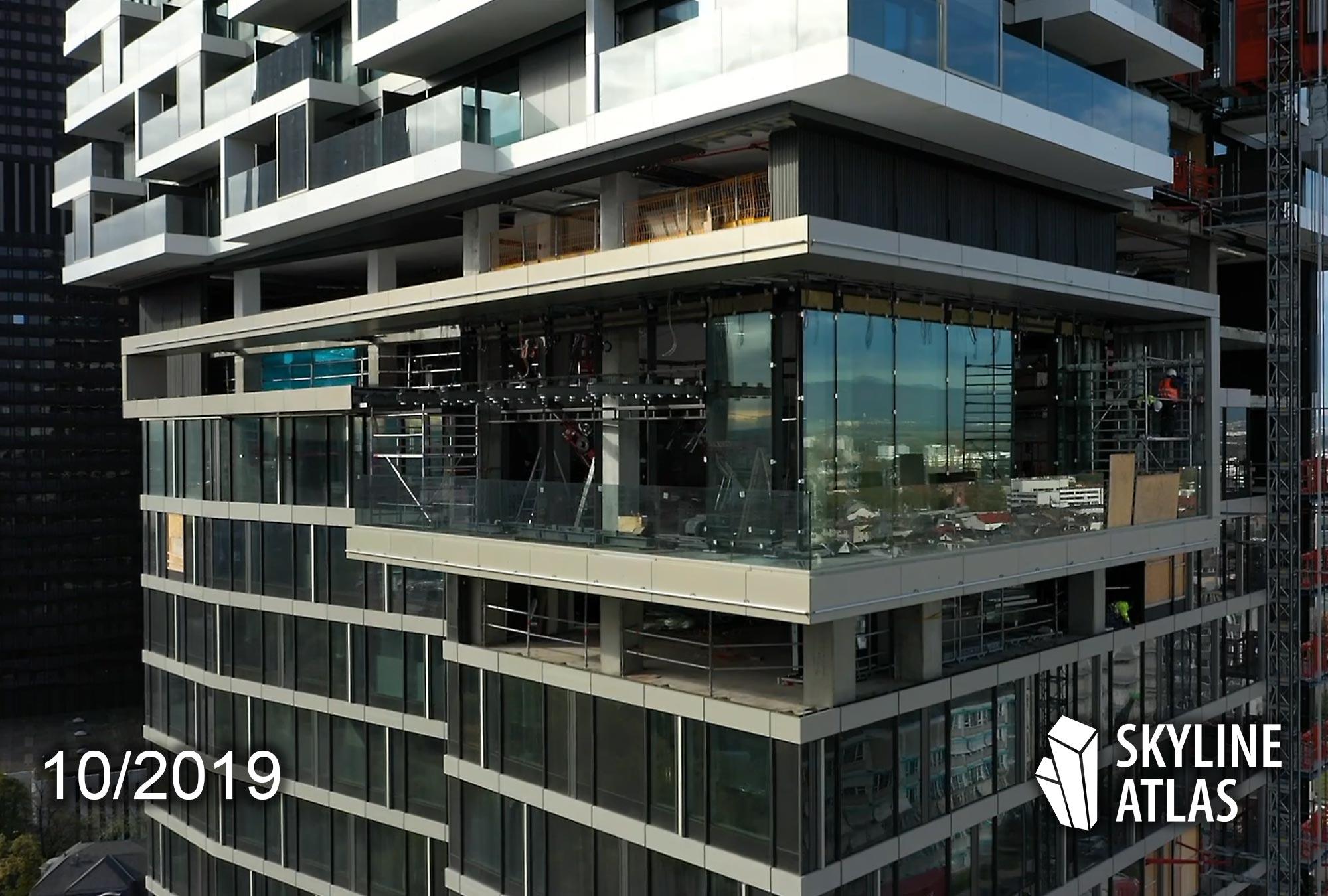 Skybar One Forty West im Bau - Aussichtsterrasse Skyline Frankfurt - Baustelle im Oktober 2019 - Restaurant mit Aussicht - Bar mit Rundumblick