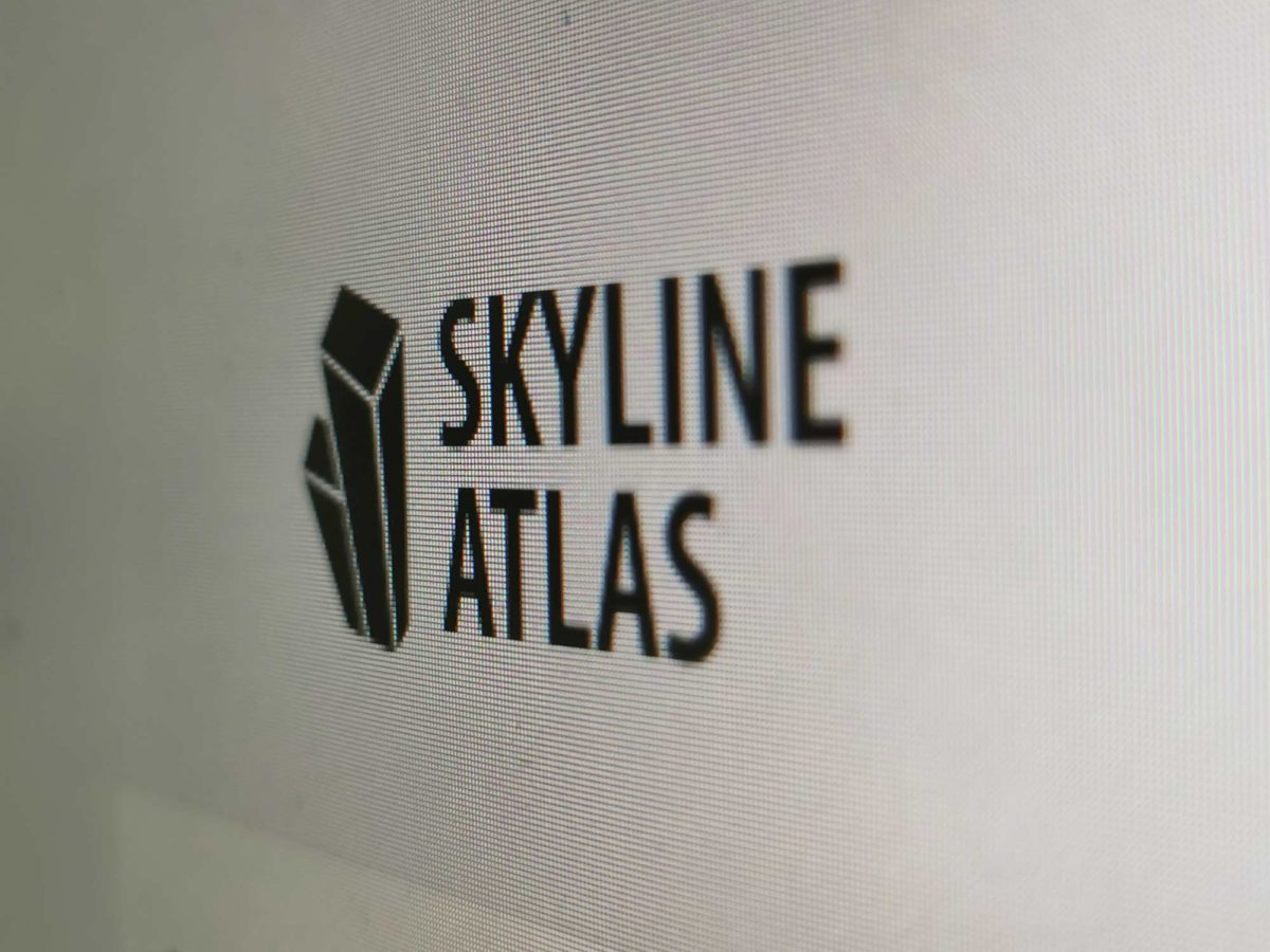 SKYLINE ATLAS Logo - Screenshot Website - Architekturführer Frankfurt - Immobilienführer Frankfurt - Büroführer Frankfurt am Main