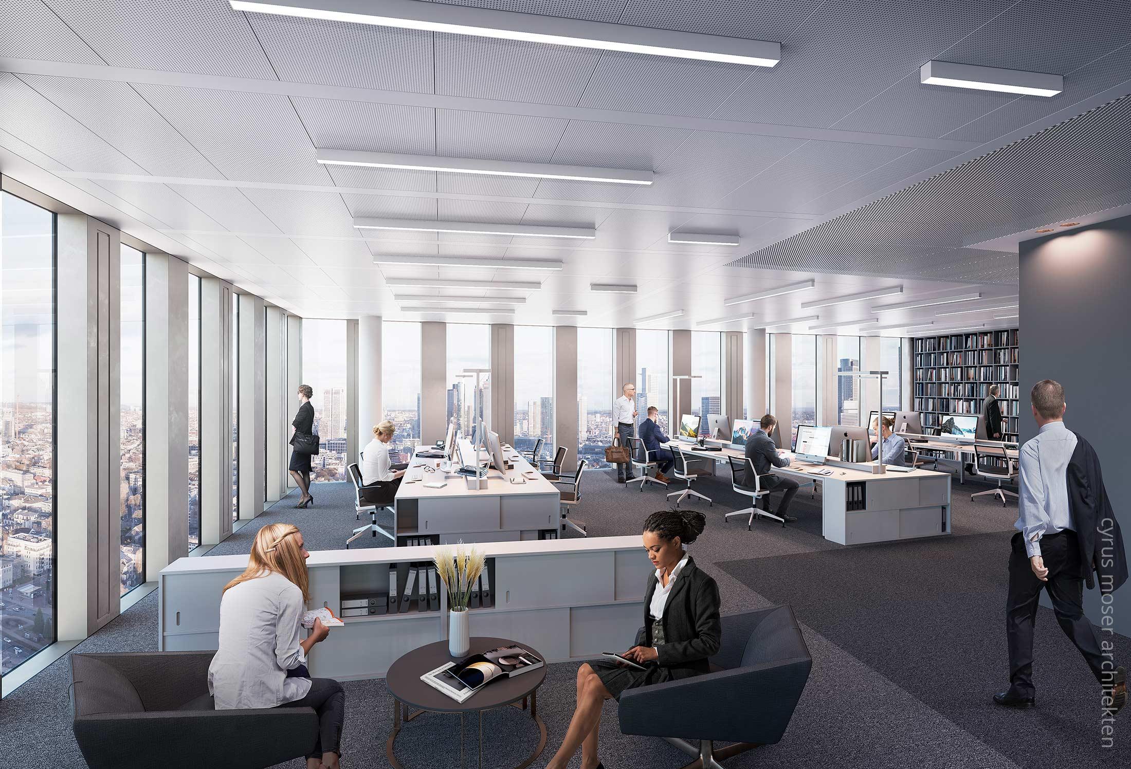 99West in Frankfurt am Main - Musteretage - BNP Parisbas Projekt - Innenausbau für Büronutzer