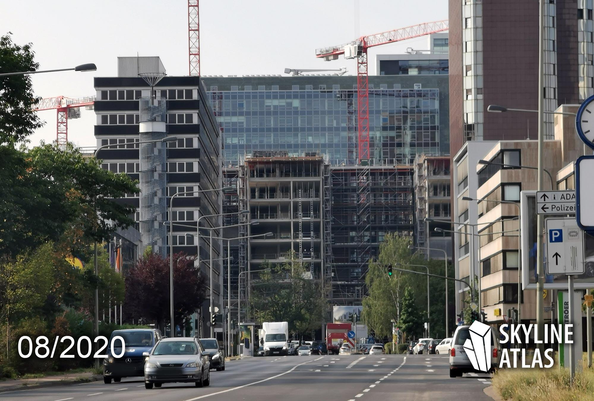 Deka Niederrad - Neubau Deka Fonds im Lyoner Viertel - Bürohaus Frankfurt - Baustelle August 2020