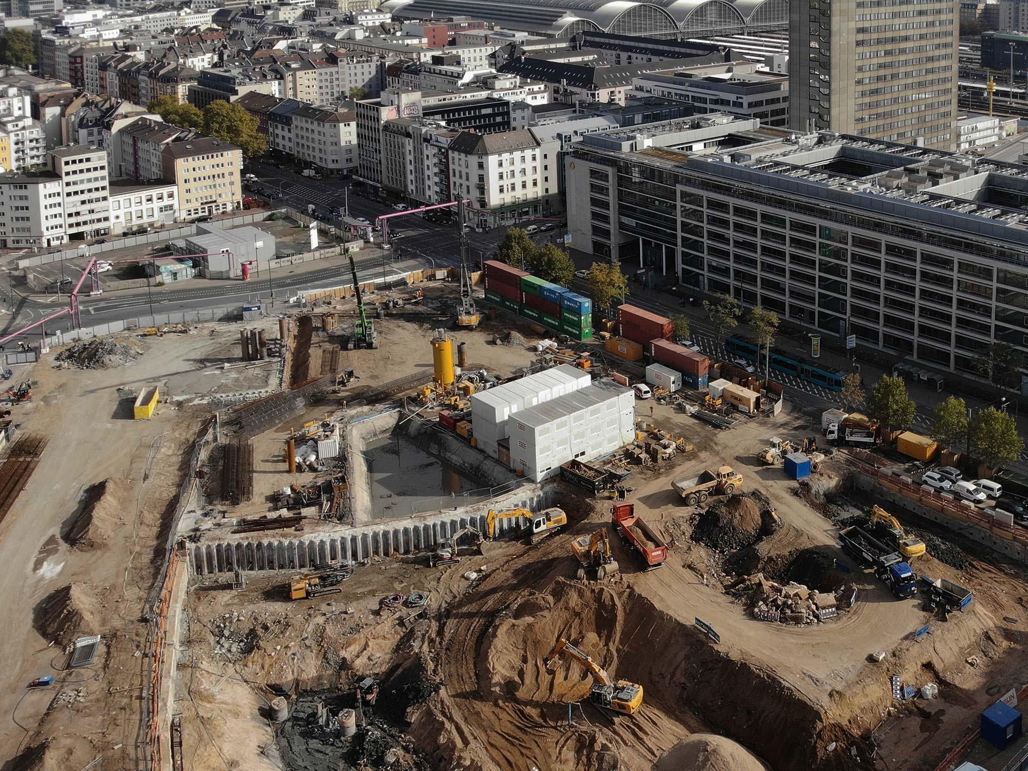 Baulogistik Anbieter Frankfurt - GP Log GmbH - Groß und Partner - Baustellen-Logistik-Anbieter