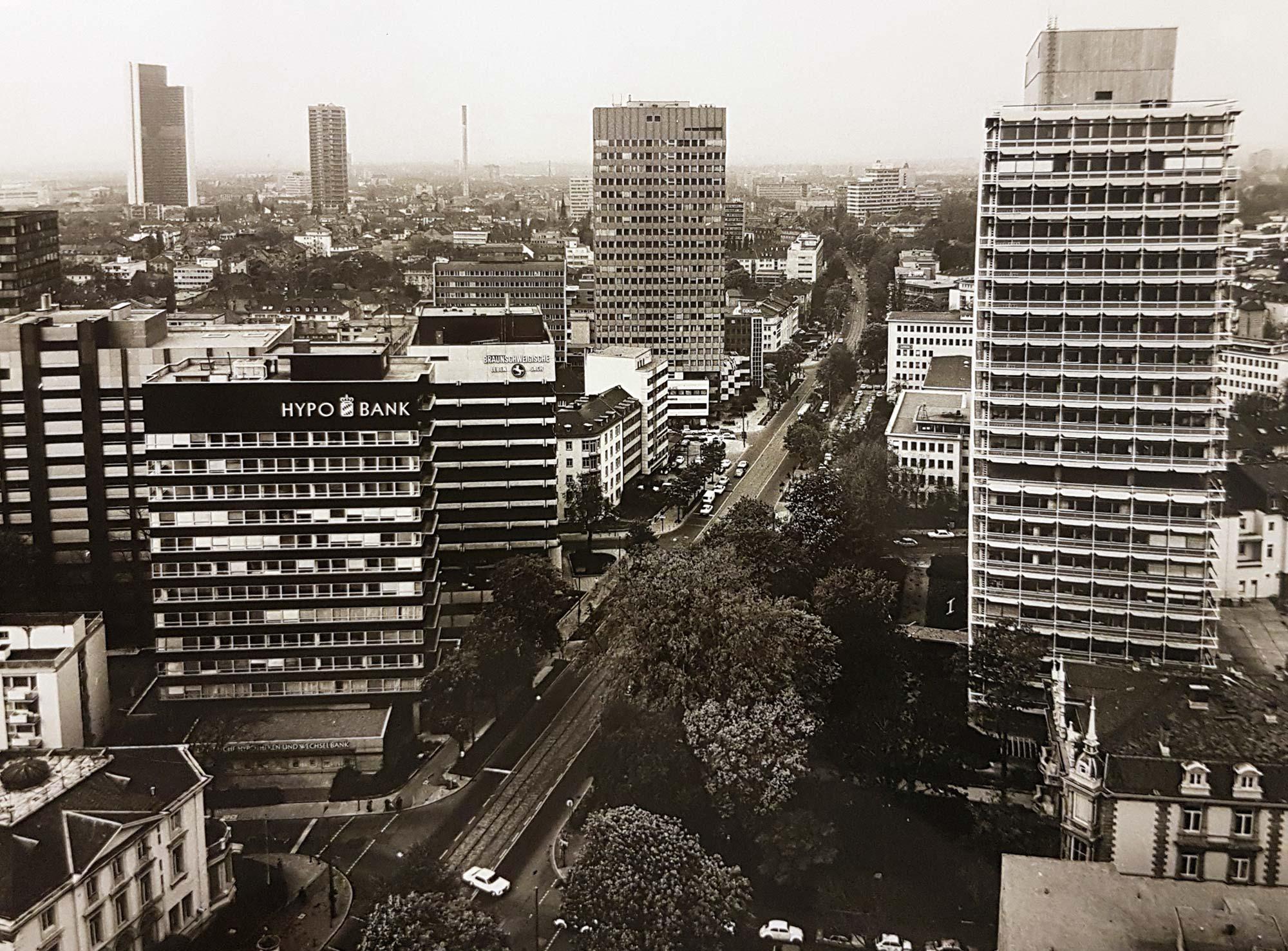 Hochhäuser in Frankfurt in der Vergangenheit
